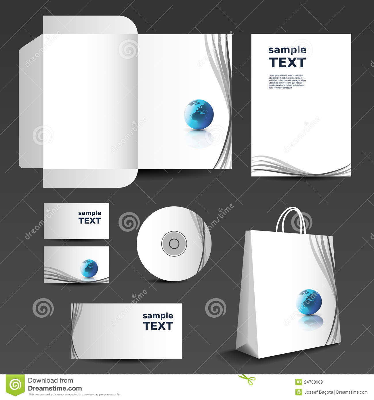 Stationery template design business set stock vector stationery template design business set accmission Images