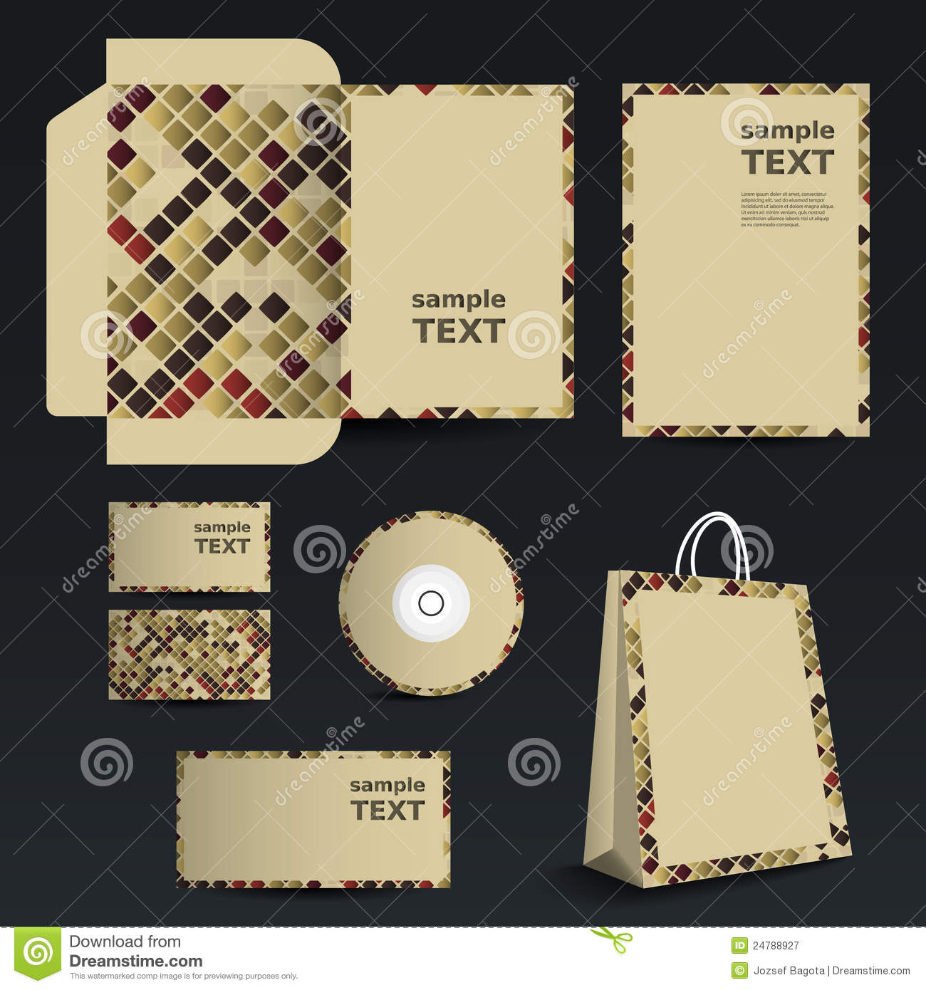 stationery template design business set stock vector