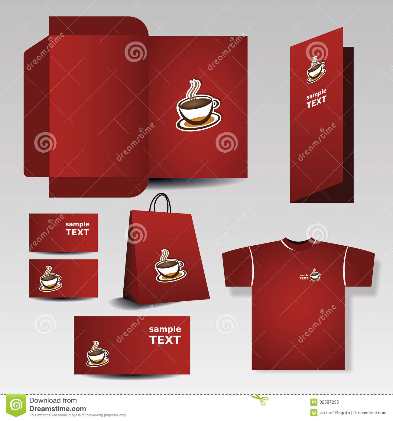 Shopping Bag With Die Cut Layout Template Stock Photo - Image ...