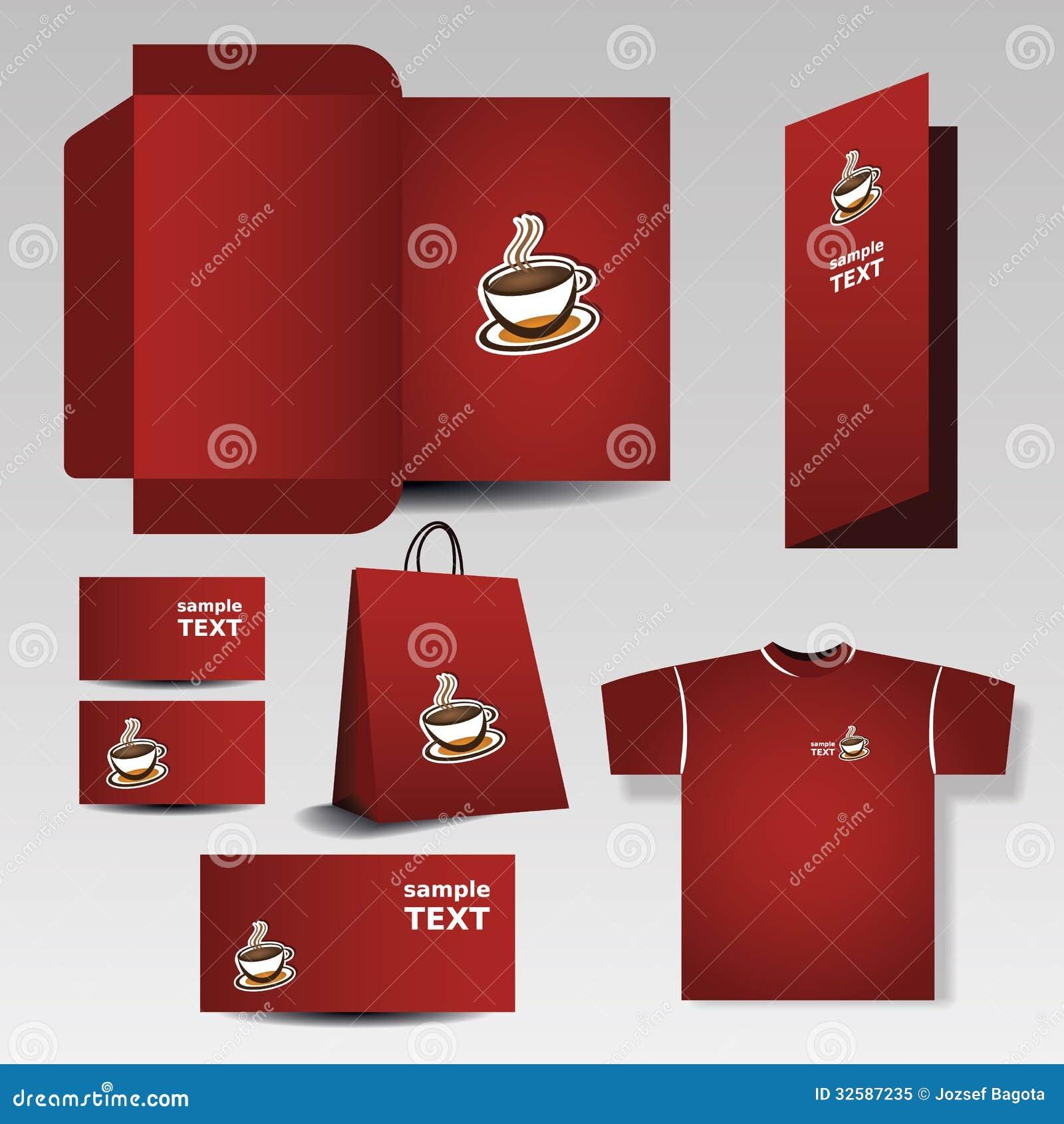 stationery template design business set royalty free stock photo image 32587235. Black Bedroom Furniture Sets. Home Design Ideas