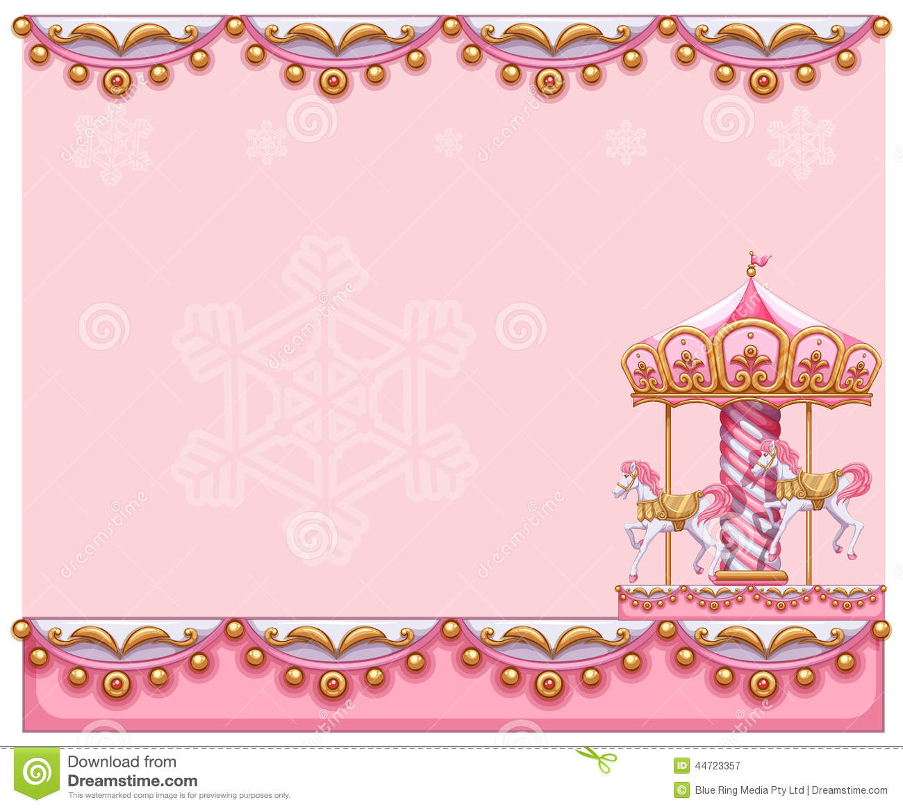 A Stationery Template With A Merry-go-round Ride Stock ...