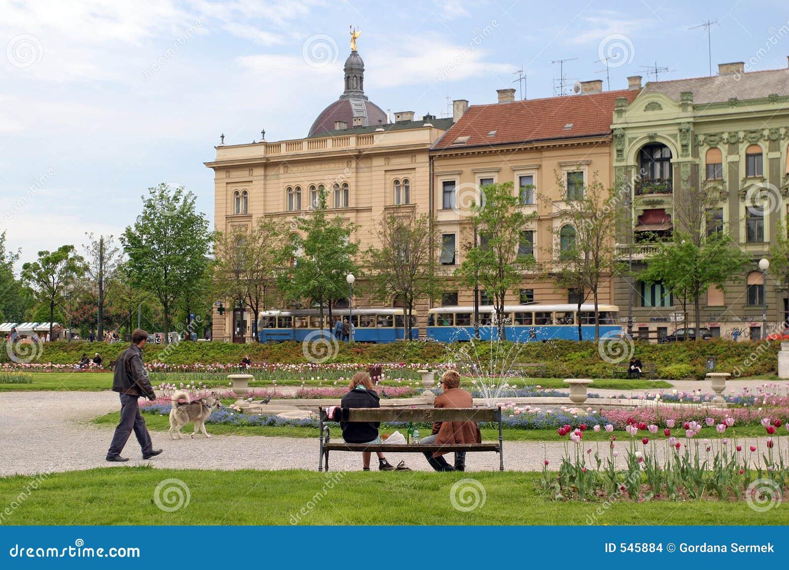 Stationnement de ville à Zagreb