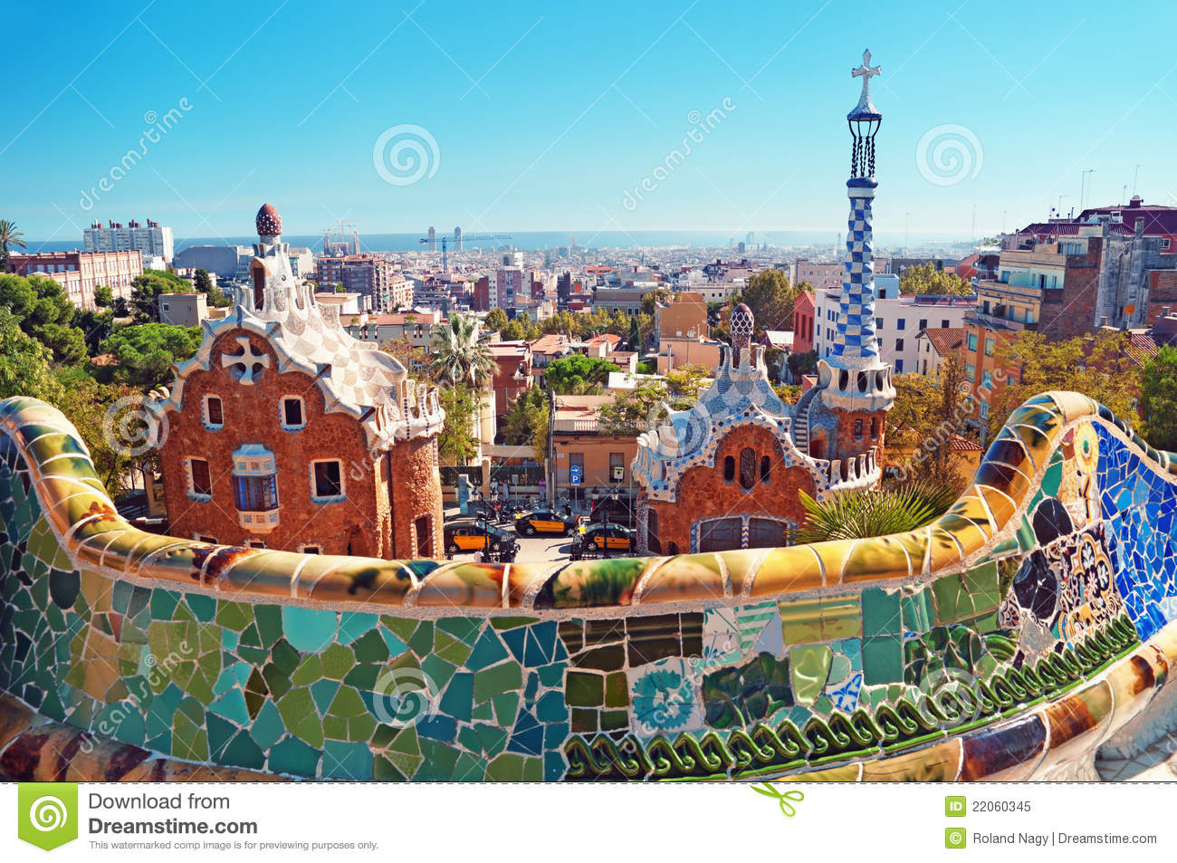 Stationnement Guell, Barcelone - Espagne