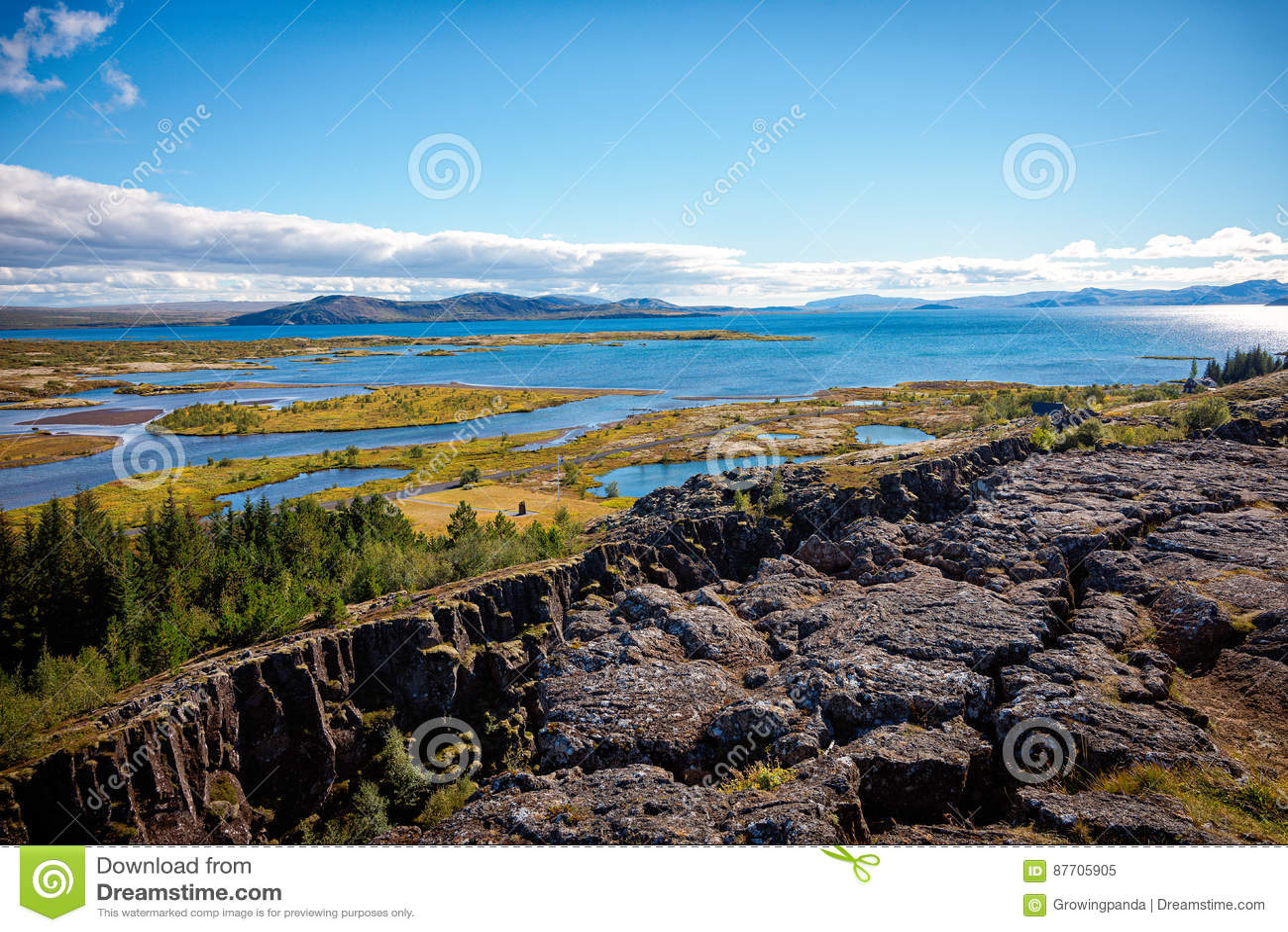 Stationnement national de Thingvellir, Islande