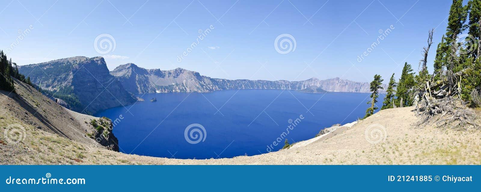 Stationnement national Etats-Unis de lac crater
