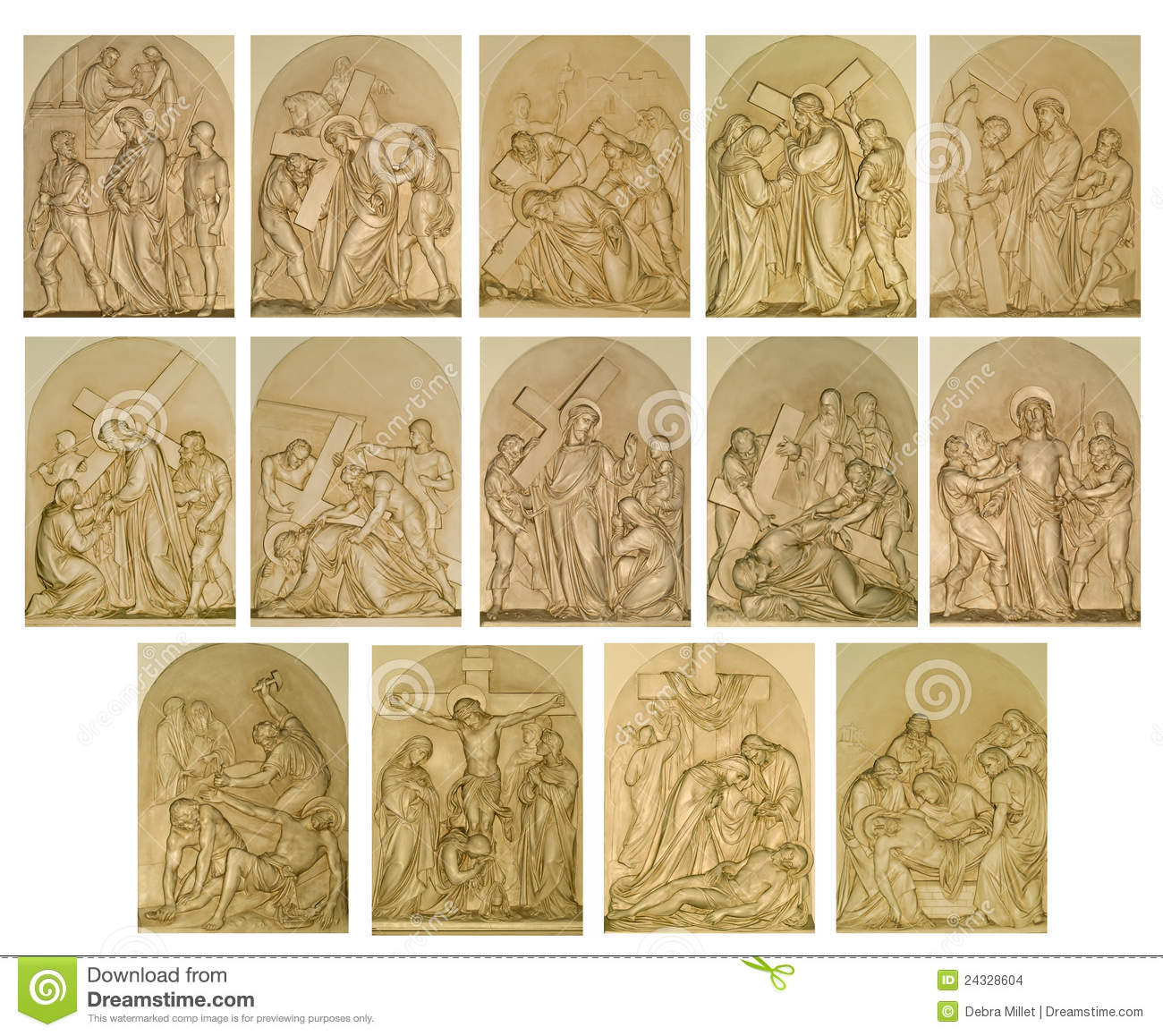 The Stations Of Cross Stock Images Image 24328604