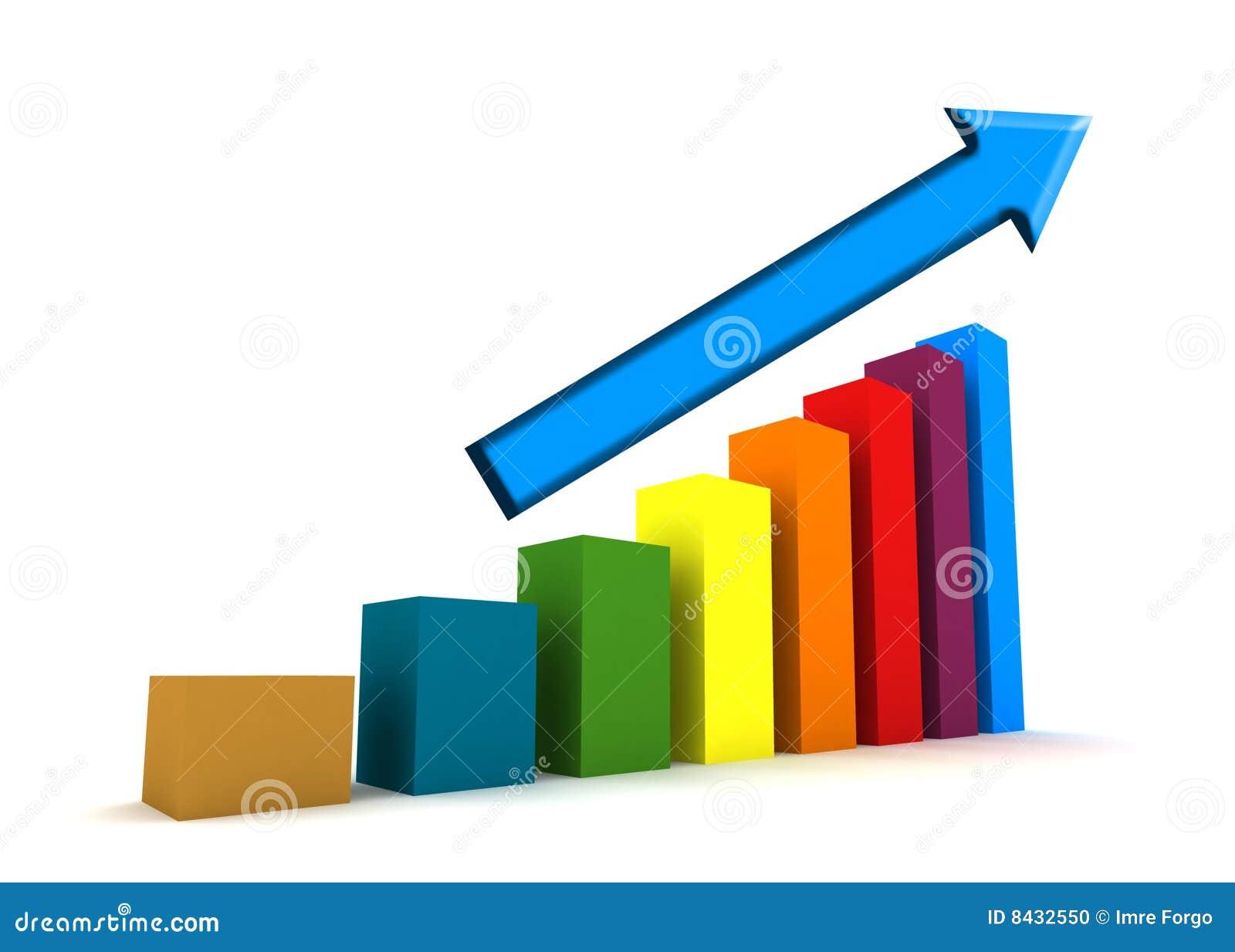 Statistics - 3d isolated diagram