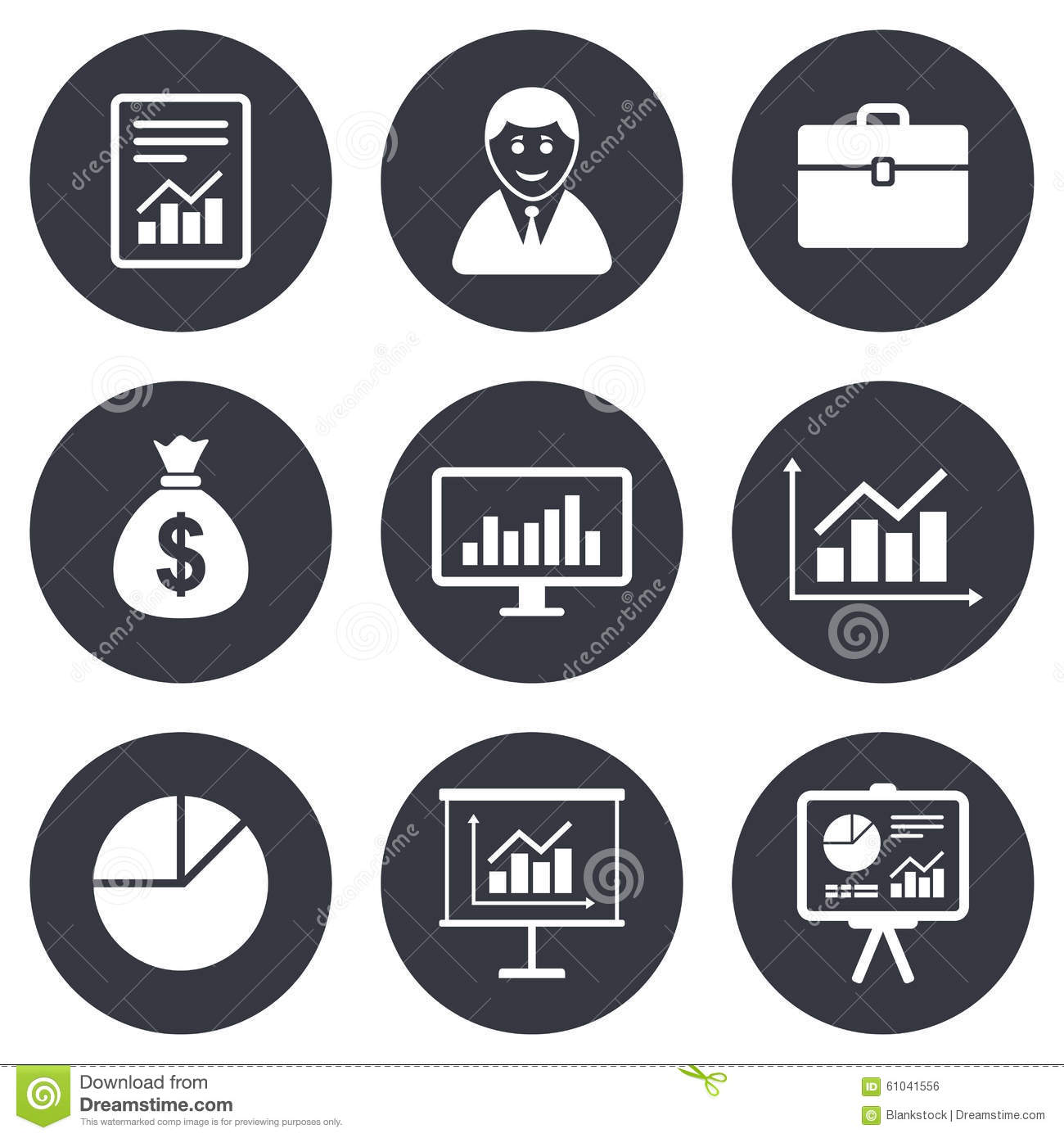 Statistics, Accounting Icons. Charts Signs Stock Vector ...