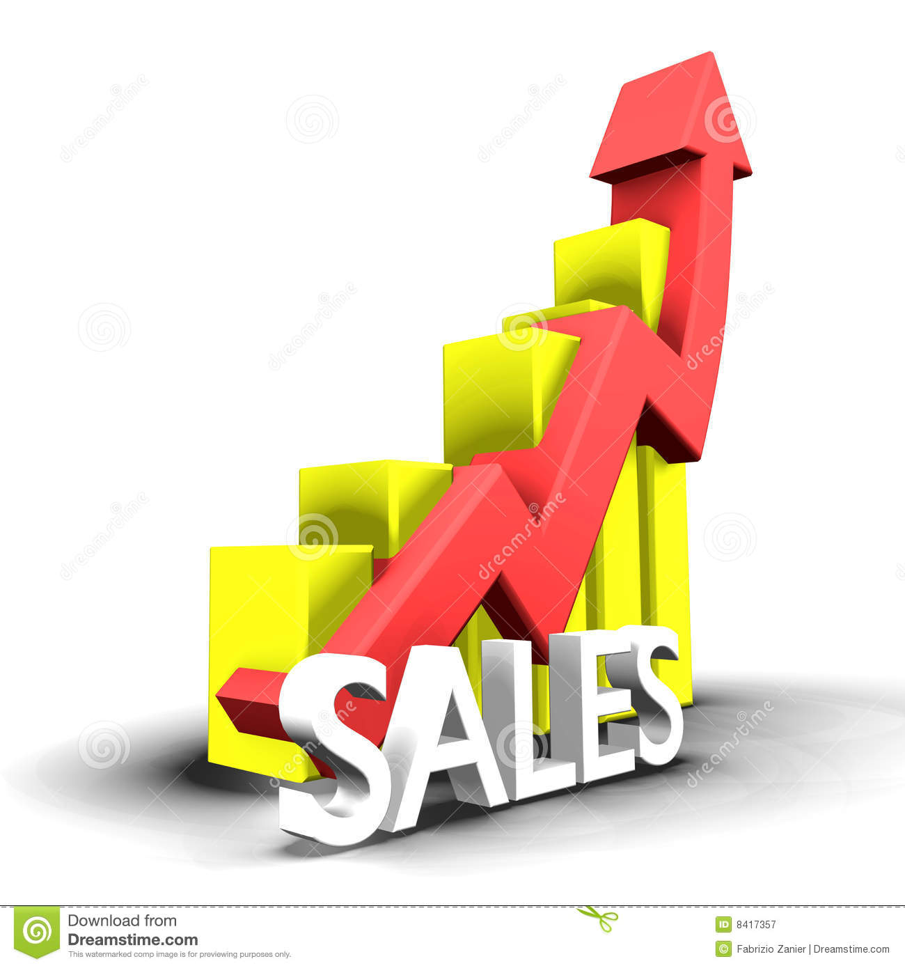 Statistics Graphic With Sales Word Royalty Free Stock Photography ...