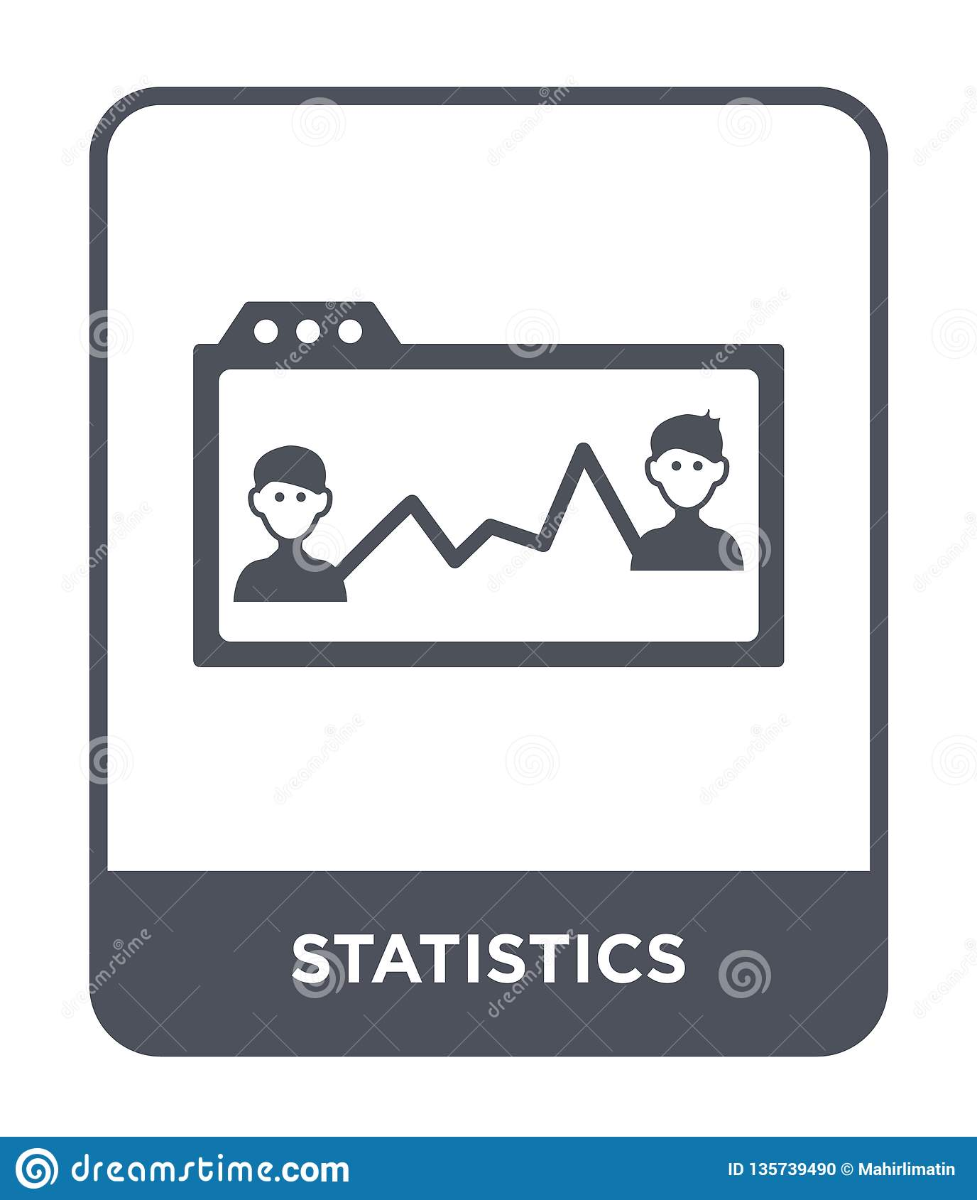 statistics icon in trendy design style. statistics icon isolated on white background. statistics vector icon simple and modern