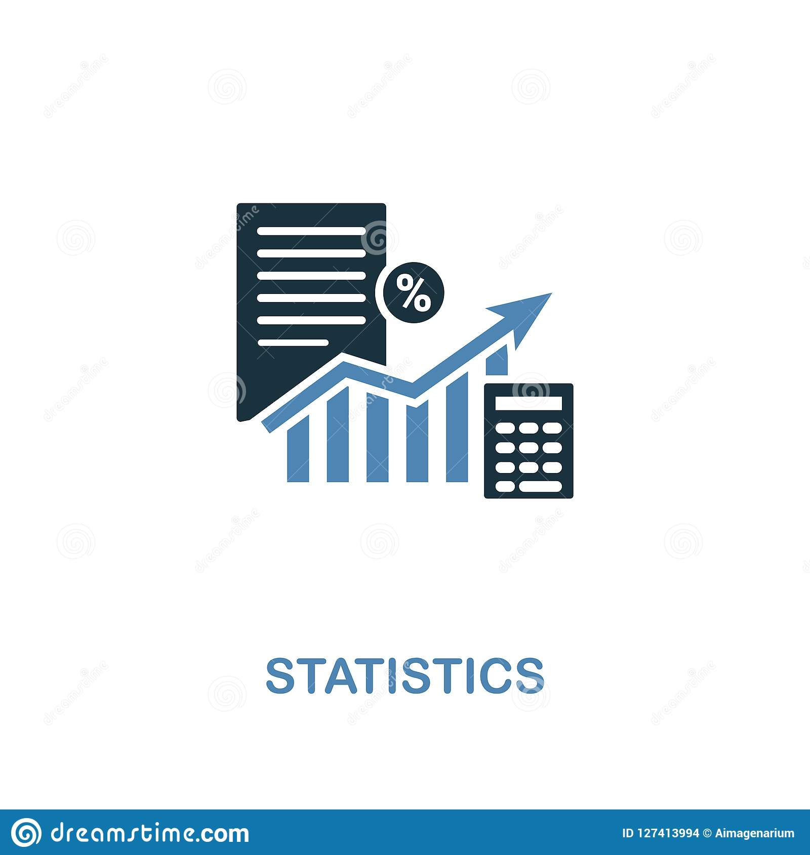 Statistics Icon In Two Colors  Creative Design From Online