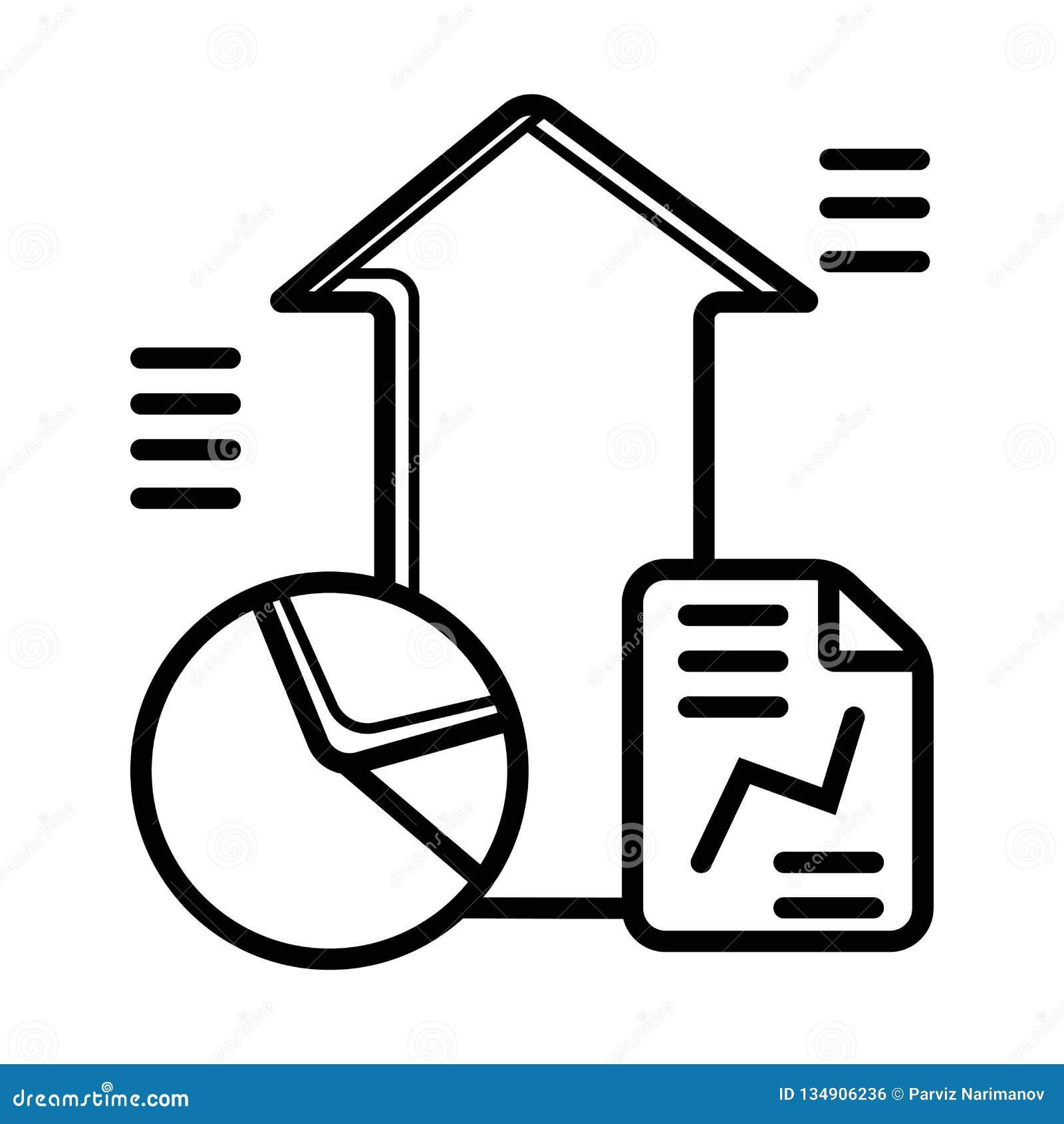Statistics vector icon