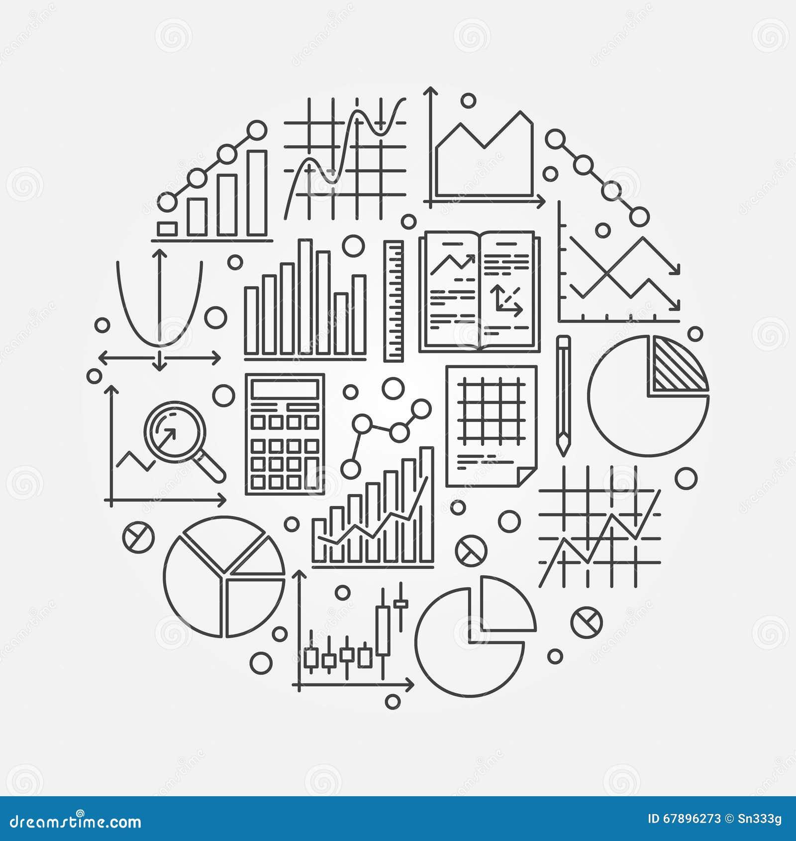 Statistieken om vectorillustratie