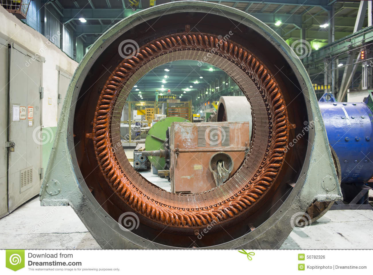 Stator Of A Big Electric Motor Stock Photo Image 50782326