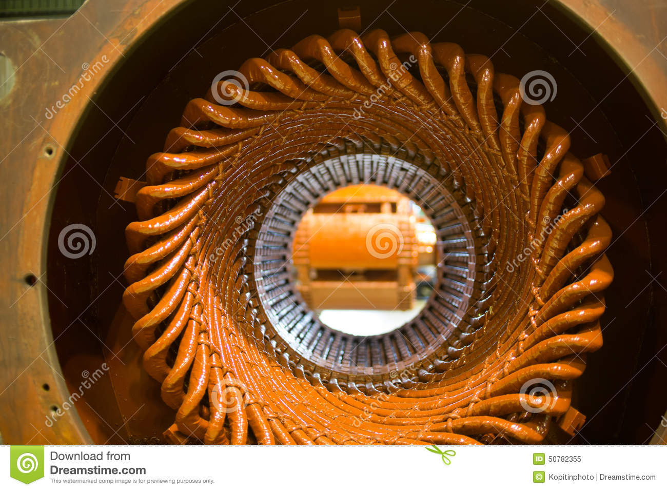 Stator Of A Big Electric Motor Stock Photo Image 50782355