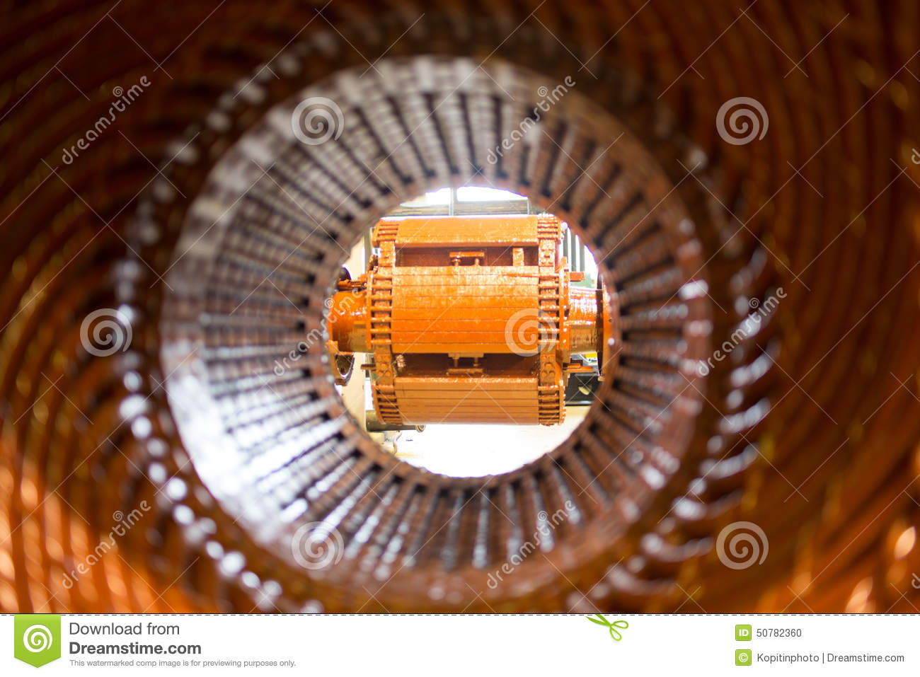 Stator Of A Big Electric Motor Stock Photo Image 50782360