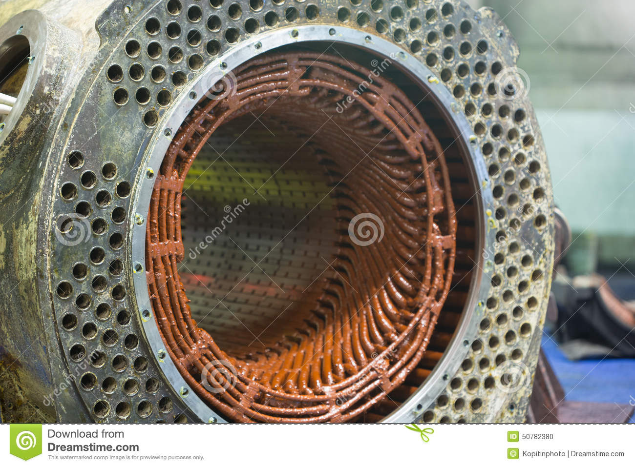 Stator Of A Big Electric Motor Stock Photo Image 50782380