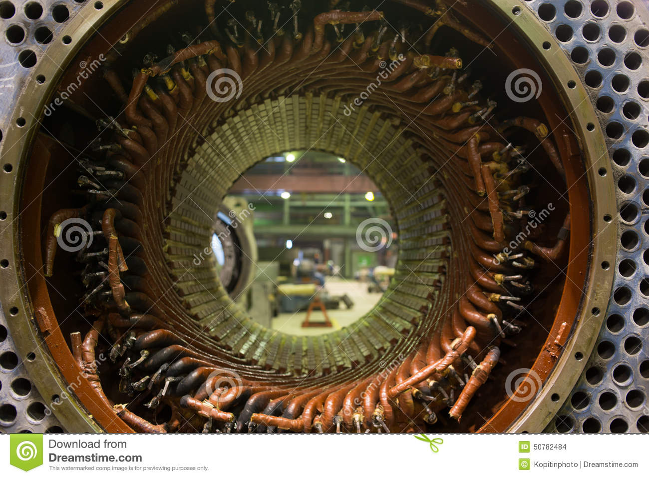 Stator Of A Big Electric Motor Stock Photo Image 50782484