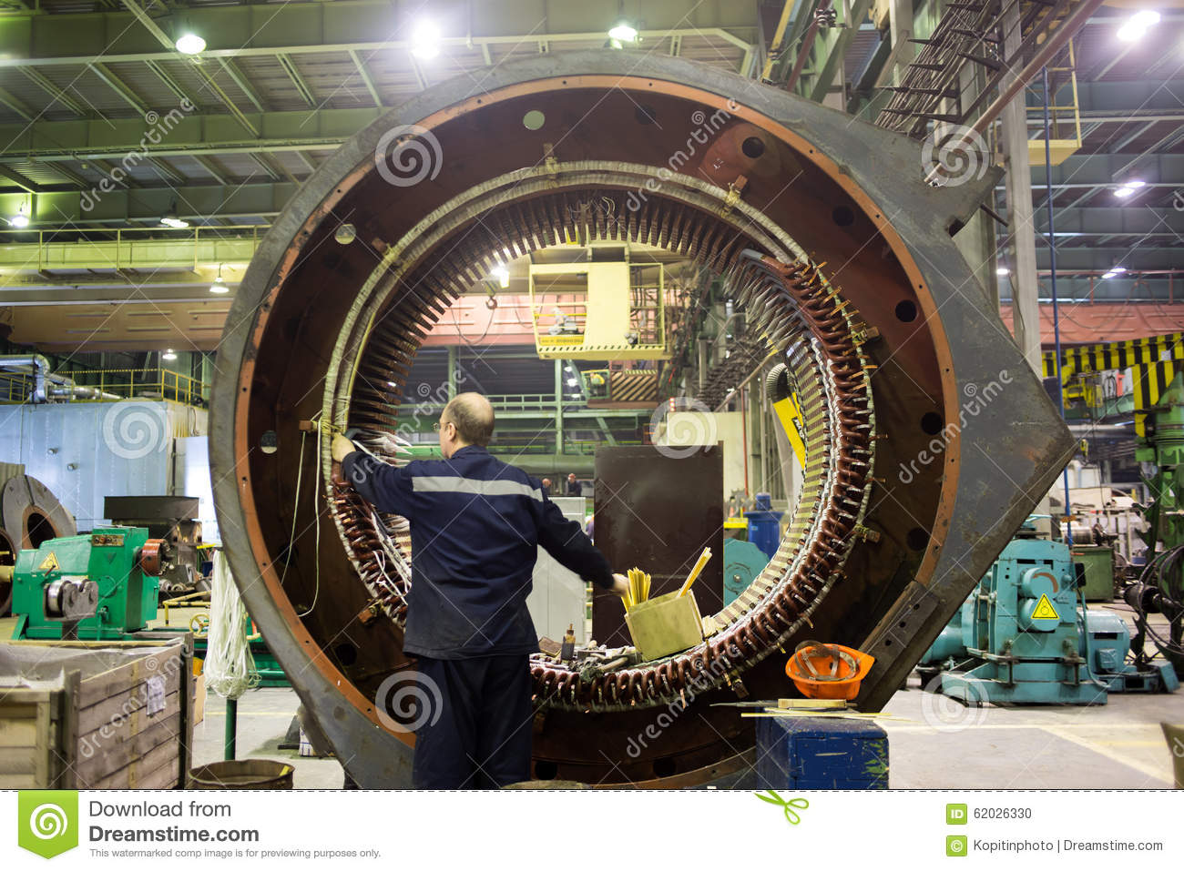 Stator Of A Big Electric Motor Editorial Image Image