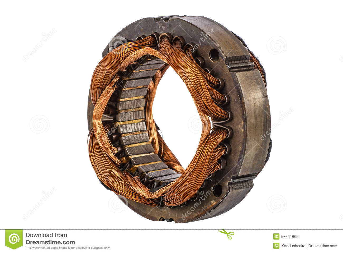 Stator Of The Electric Motor Isolated On White Background Stock Photo Image 53341669