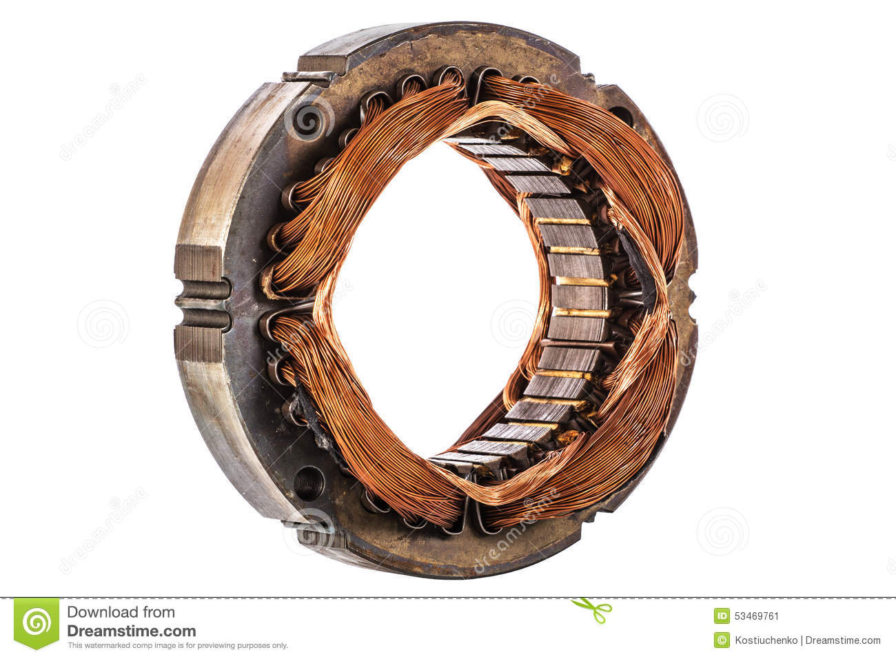 Stator Of The Electric Motor Isolated On White Background