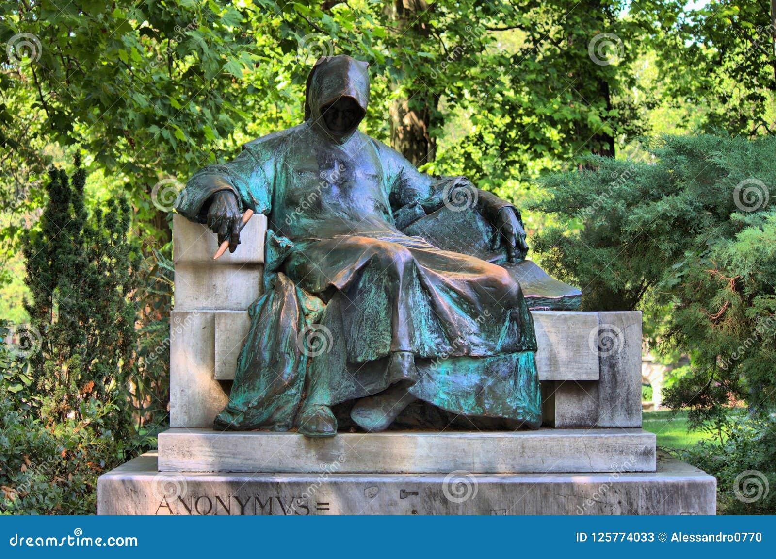 Statua Anonimowy w Budapest