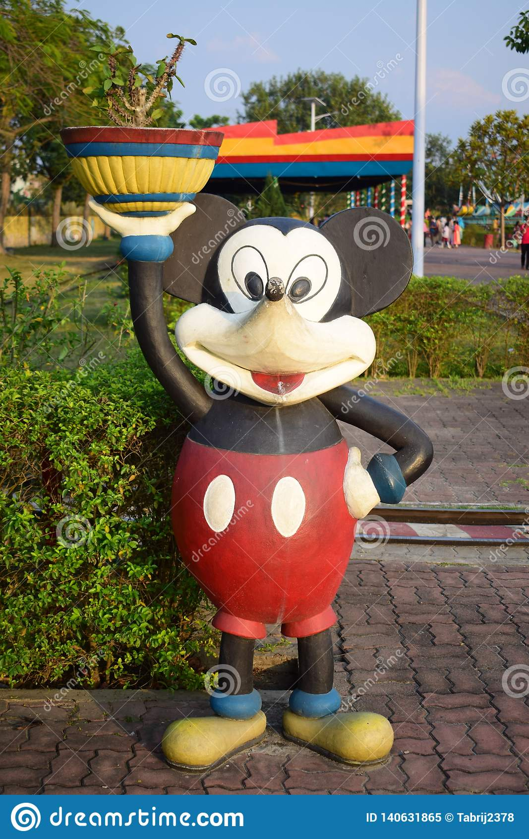 Statua del ratón de mickey
