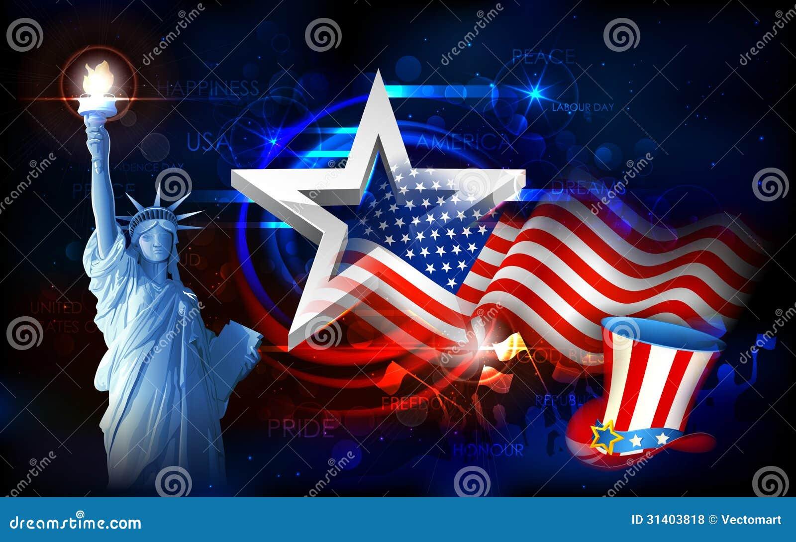 statua della libert con la bandiera americana fotografie. Black Bedroom Furniture Sets. Home Design Ideas