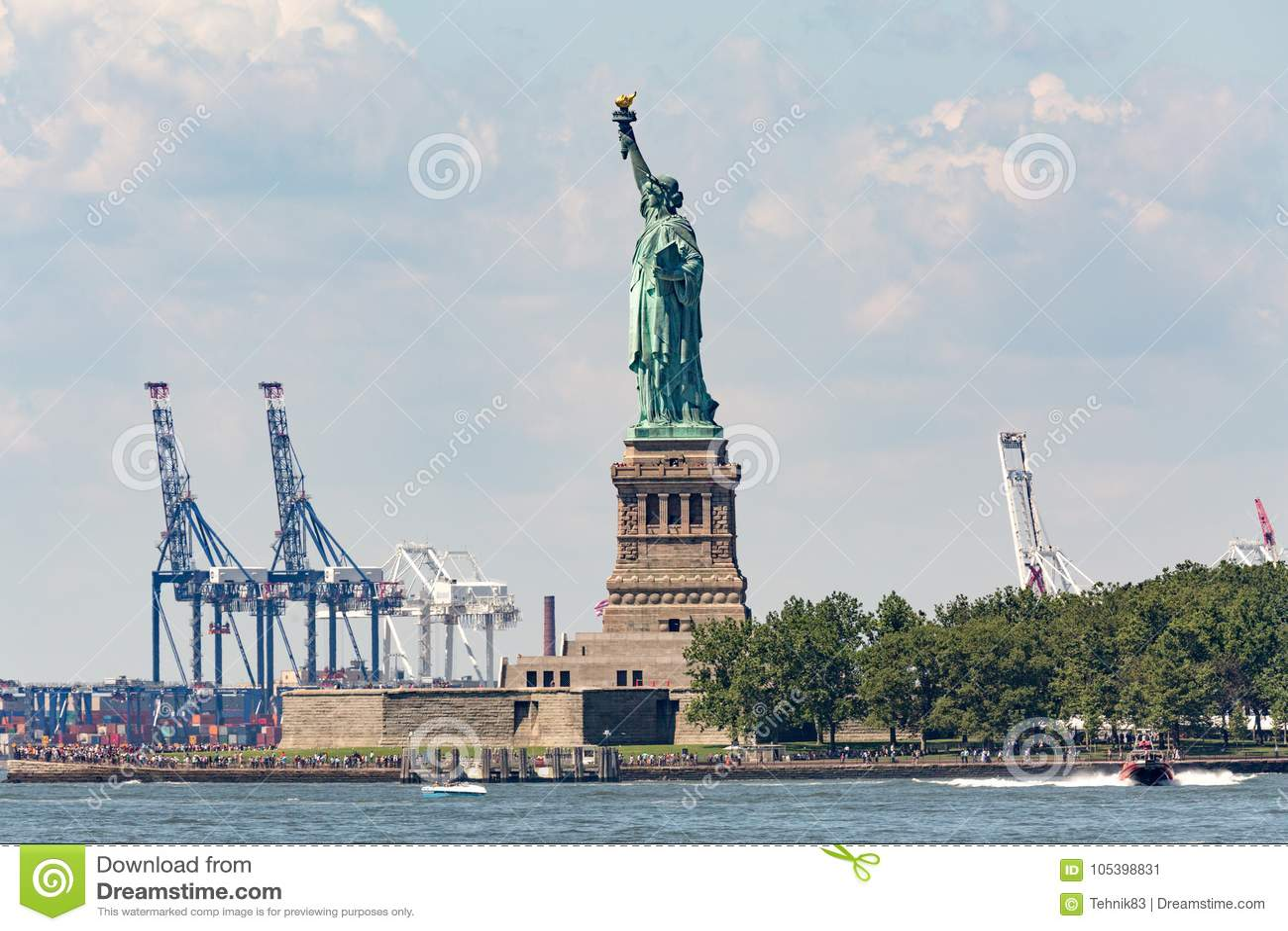 Statua della libertà - 9 luglio 2017, Liberty Island, New York Harb