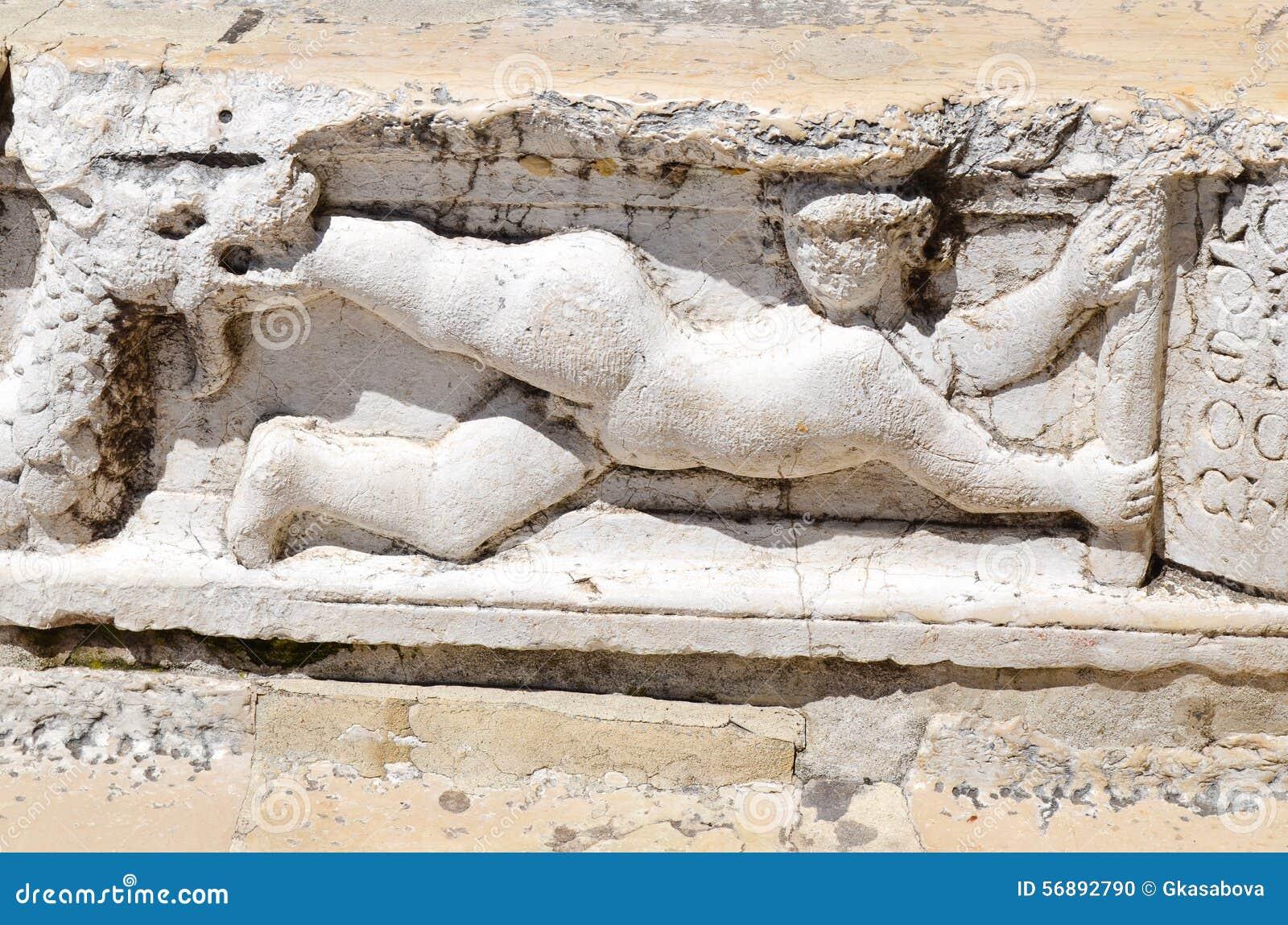 Statua - dettaglio di Palazzo Ducale a Venezia, Italia