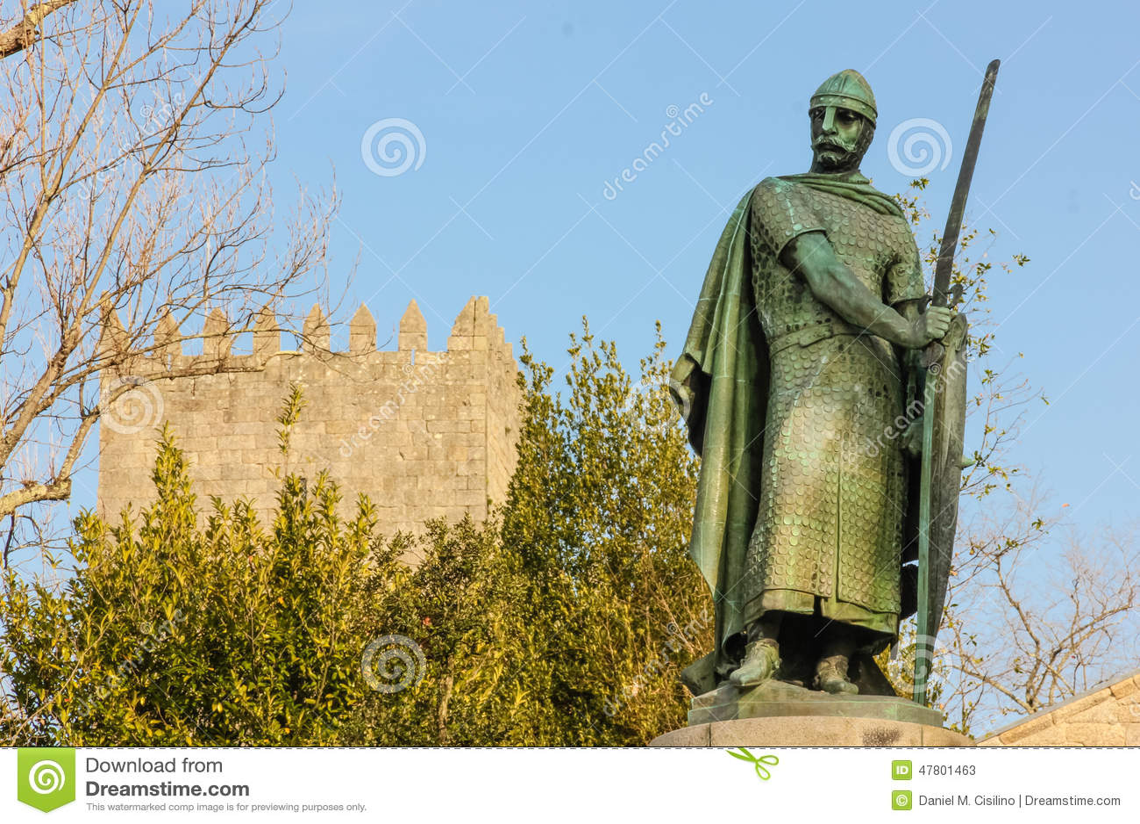 Statua di re Afonso Henriques Guimaraes portugal