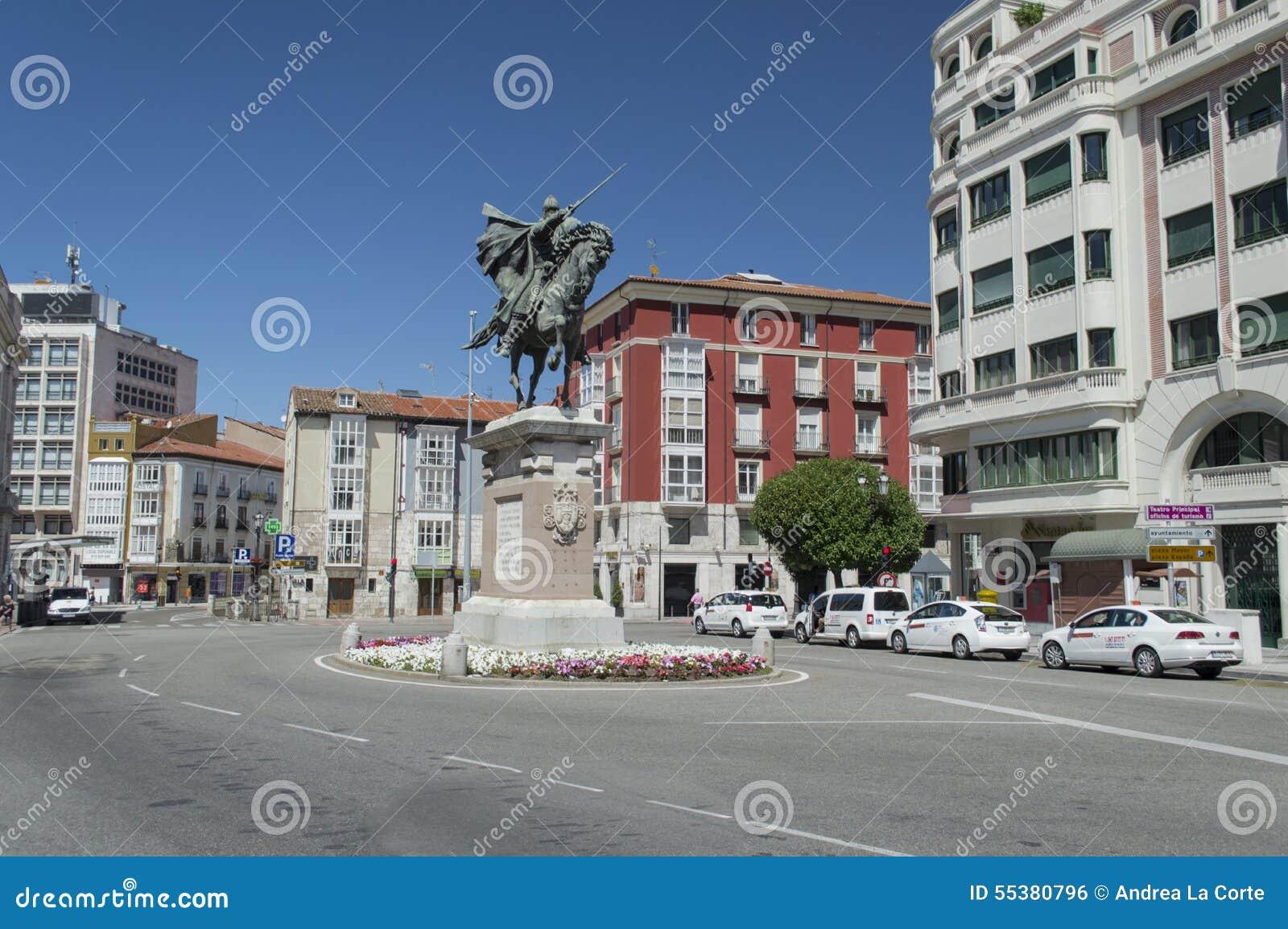 Statua El Cid w Burgos, Hiszpania