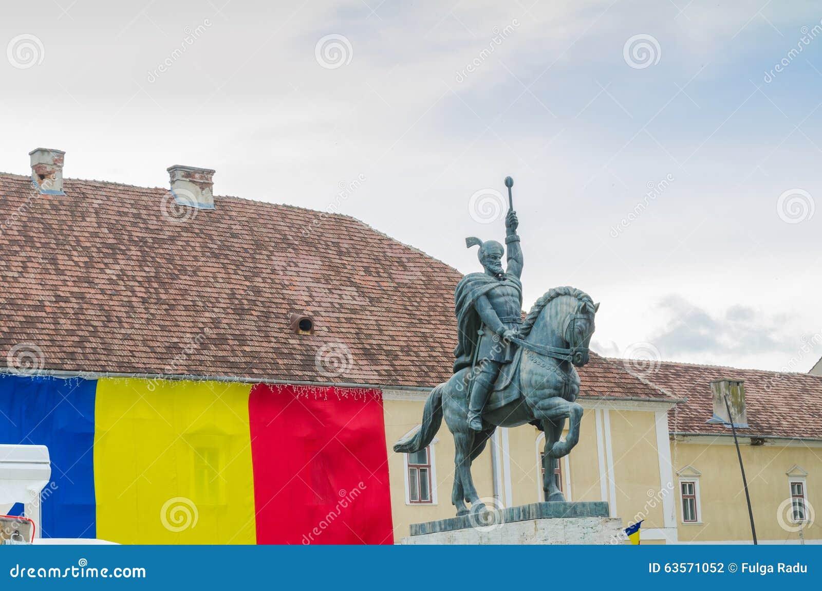 Statua Mihai Viteazul w Alba Iulia