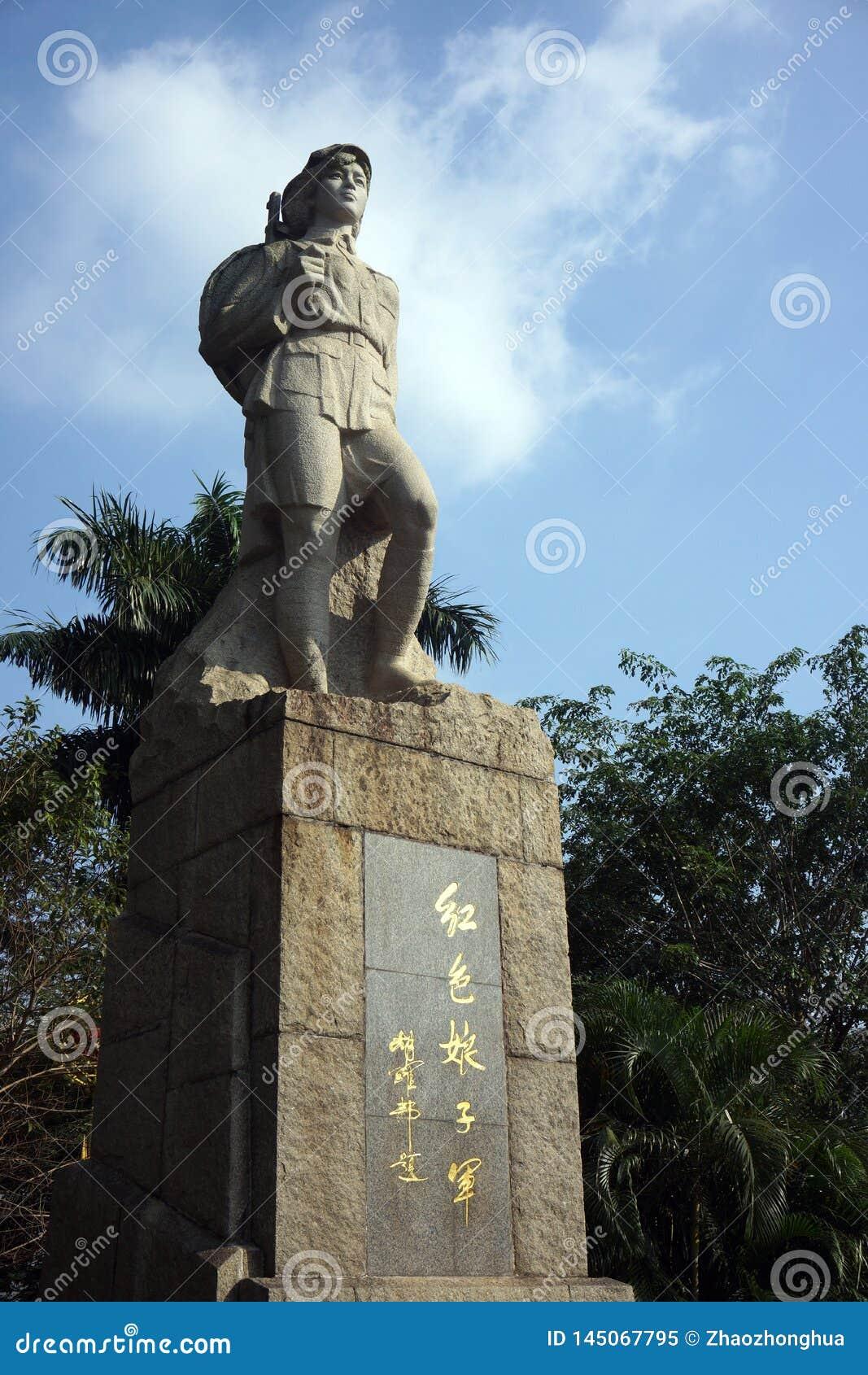 Statua rossa della separazione