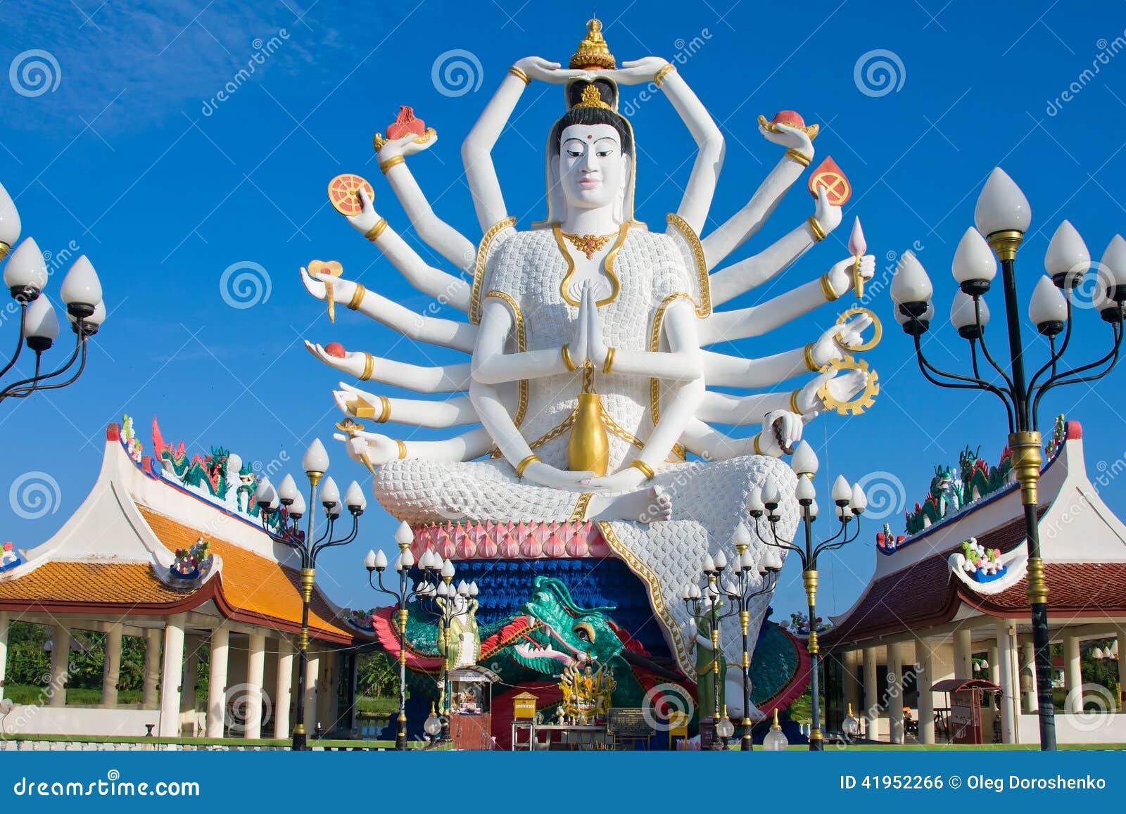 Statua Shiva na Koh Samui wyspie w Tajlandia