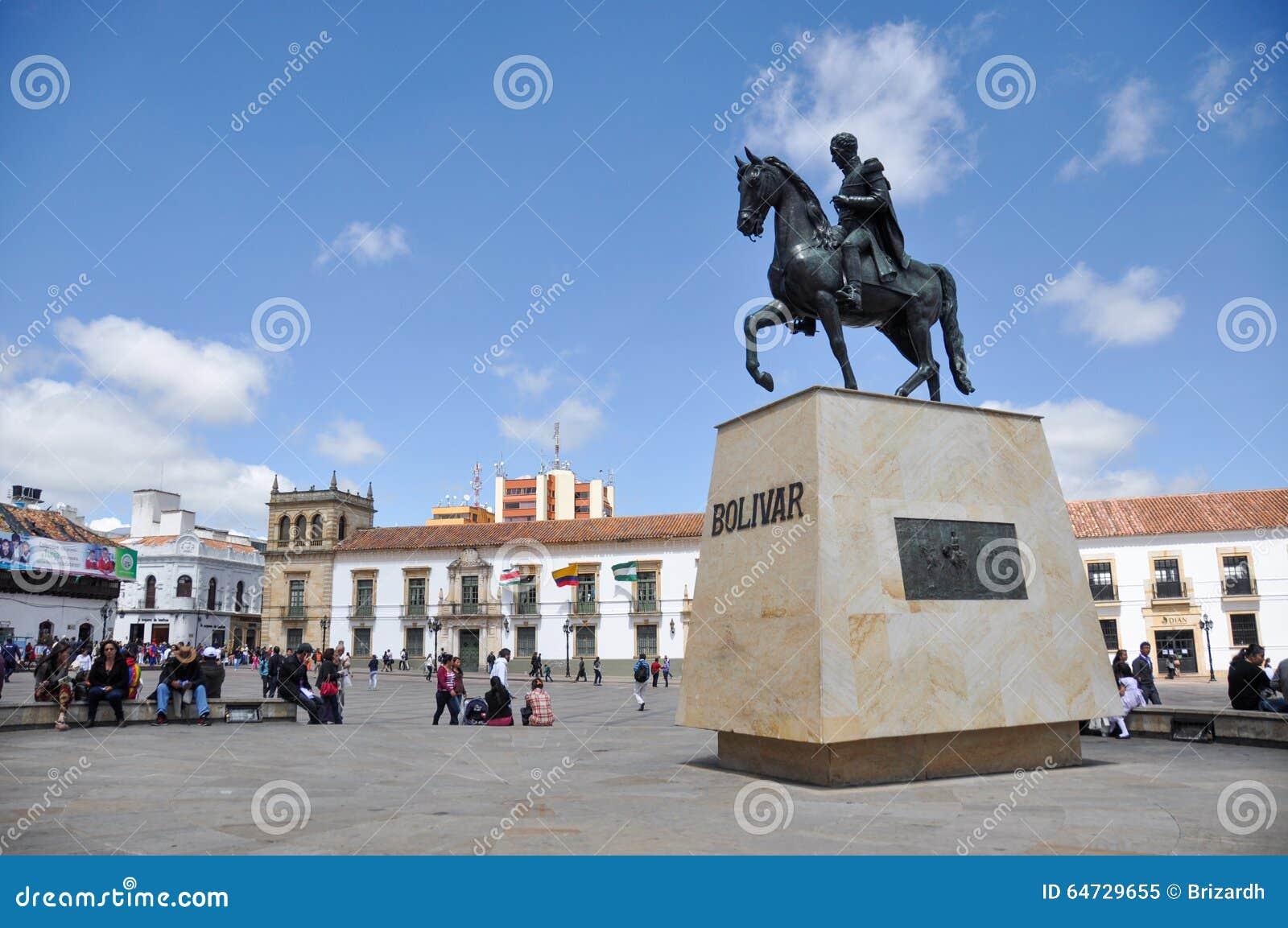 Statua Simon Bolivar w Tunja, Boyaca, Kolumbia