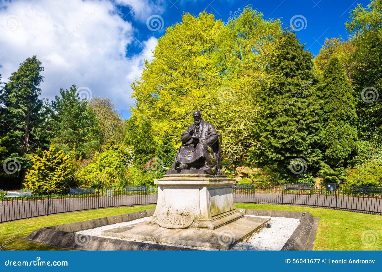 Statua władyka kelvin w Kelvingrove parku - Glasgow