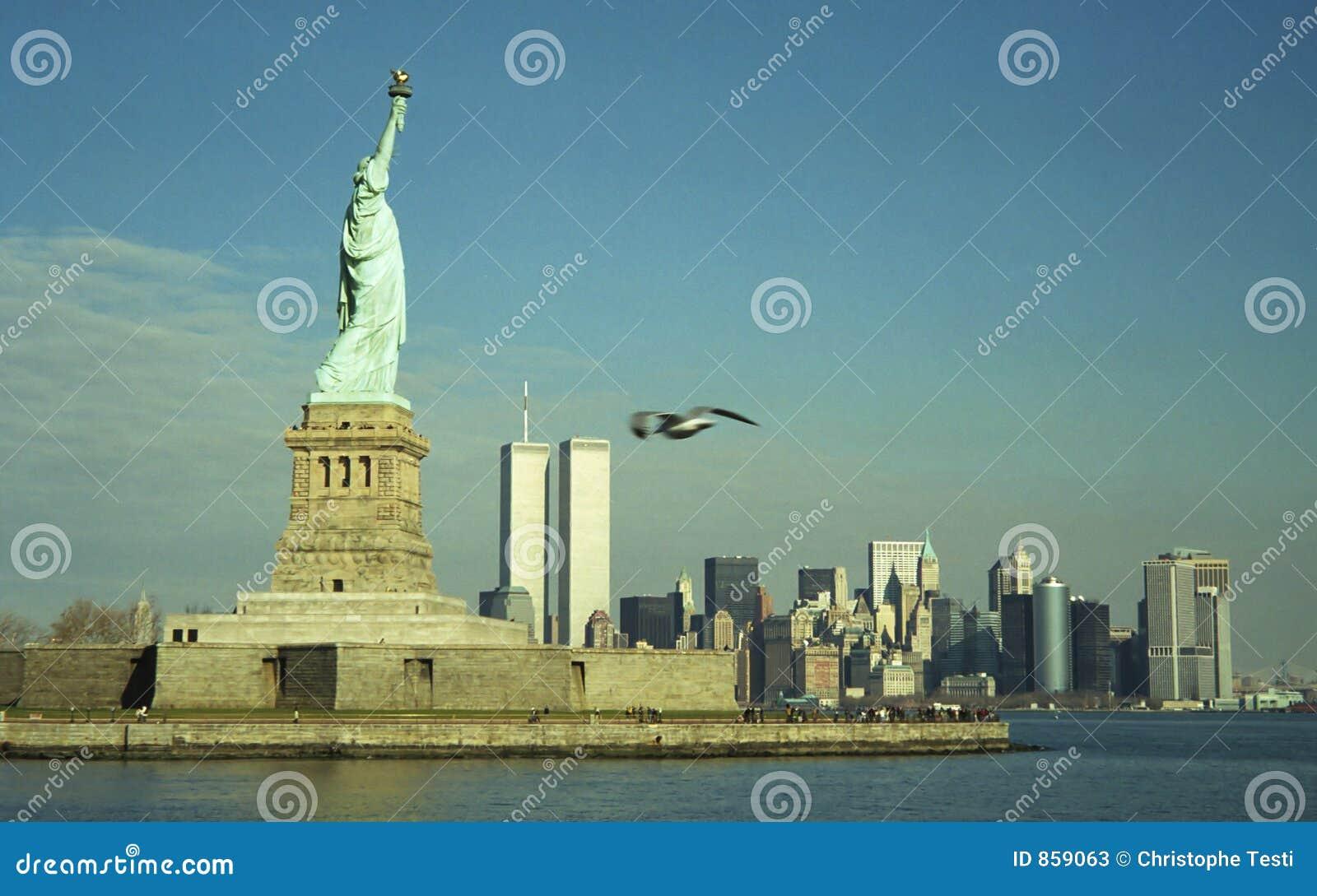 Statua wolności twin towers