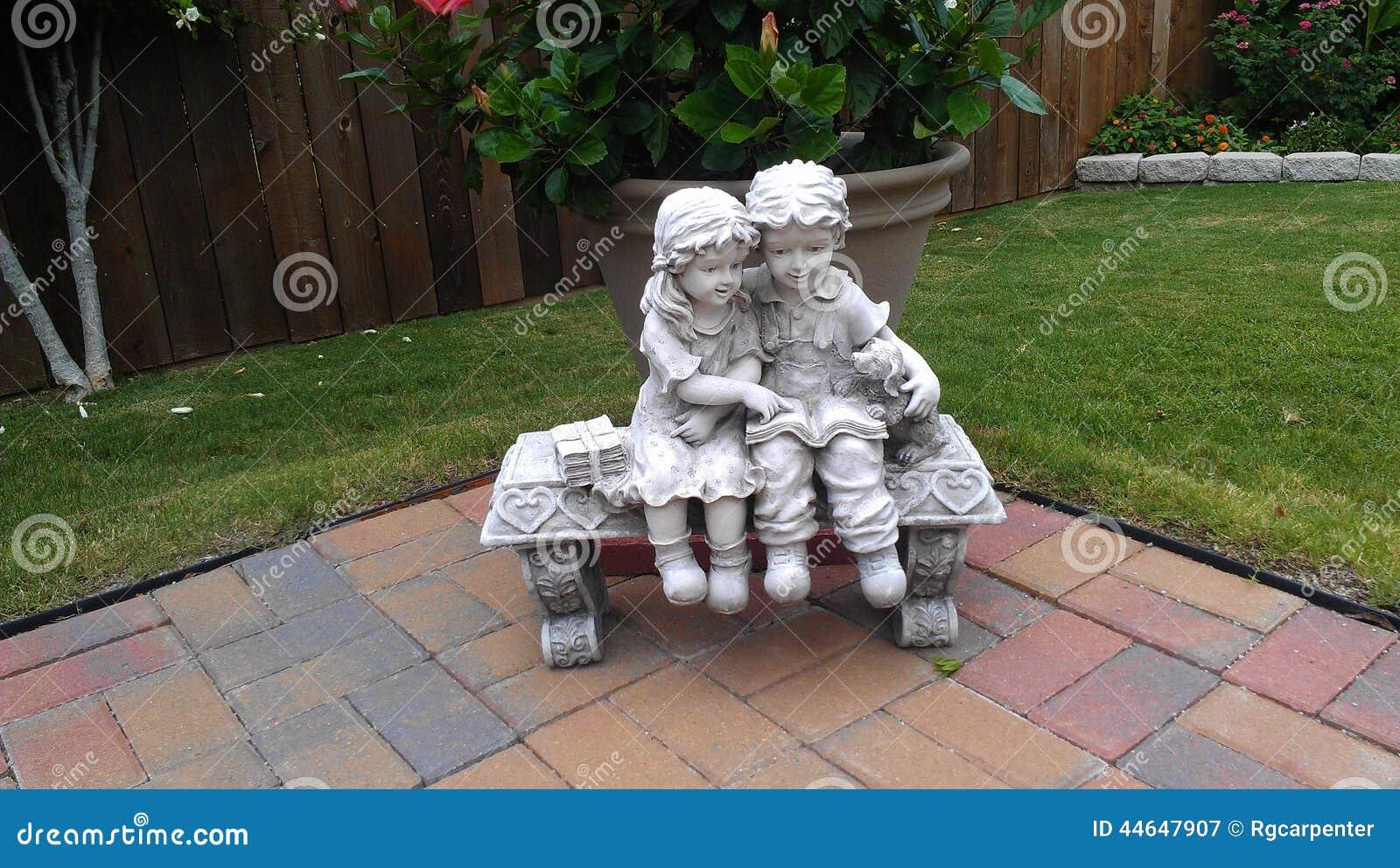 Statuary Friends Stock Photo Image 44647907