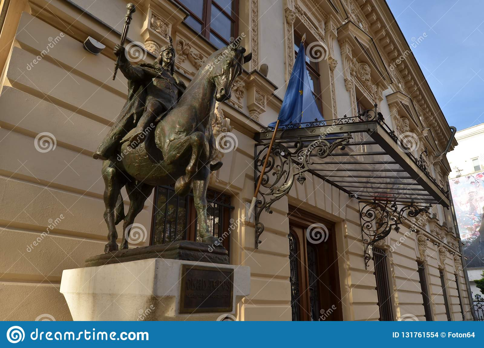 Statue équestre de Vlad Tepes, l Impaler