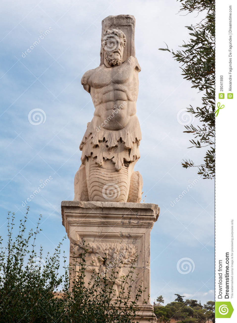 statue in ancient agora athens stock photo image 28041880
