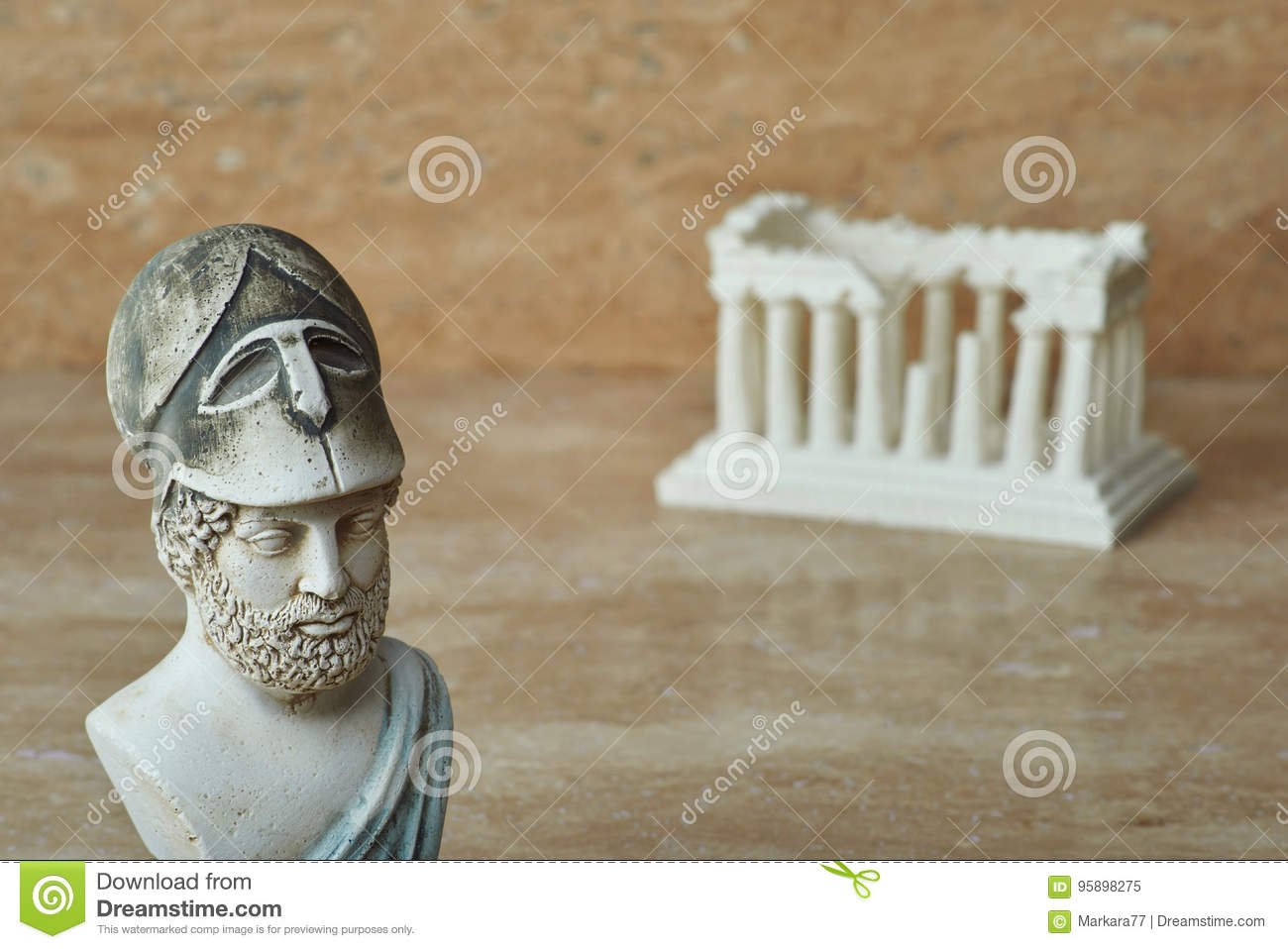 Statue Of Ancient Athens Statesman Pericles Stock Image Image Of