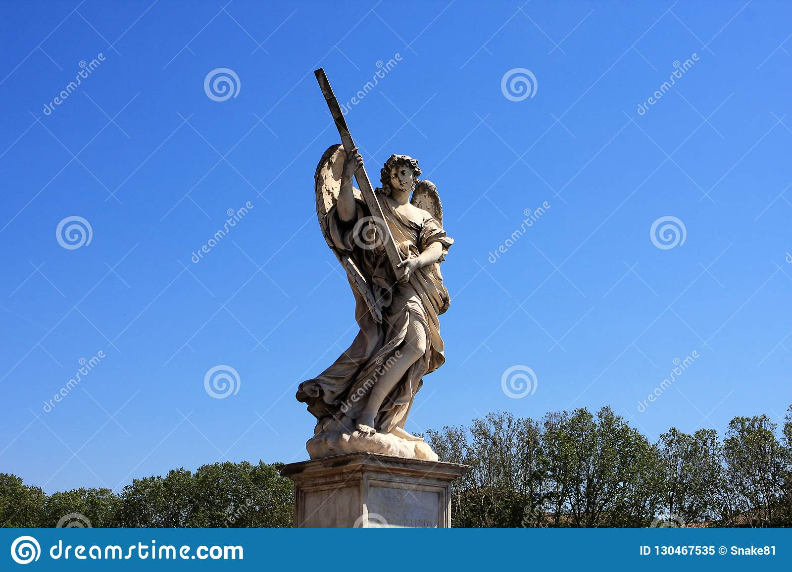 Statue of Angel at Castel Sant`Angelo, Rome3