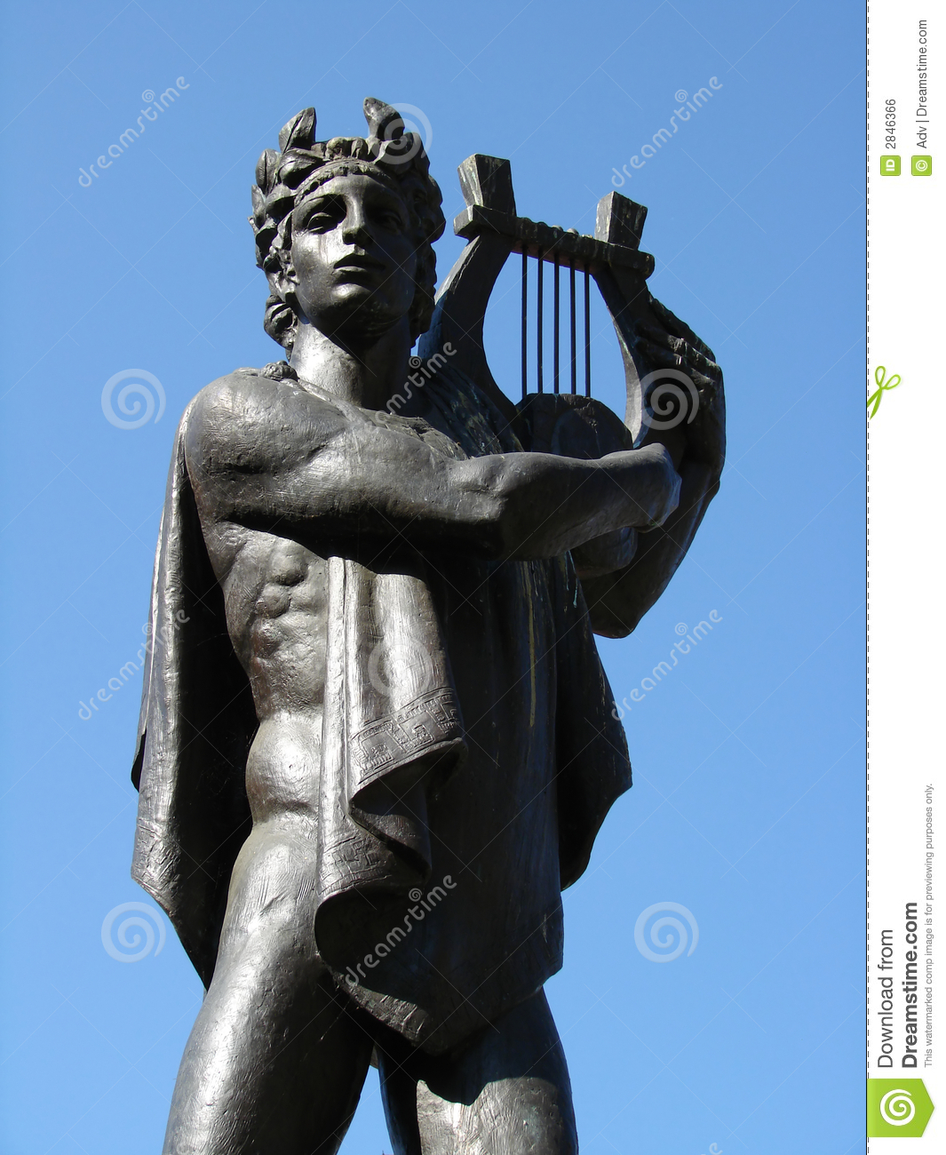 Statue of apollo stock photo image of classical wisdom for Apollon greek and european cuisine