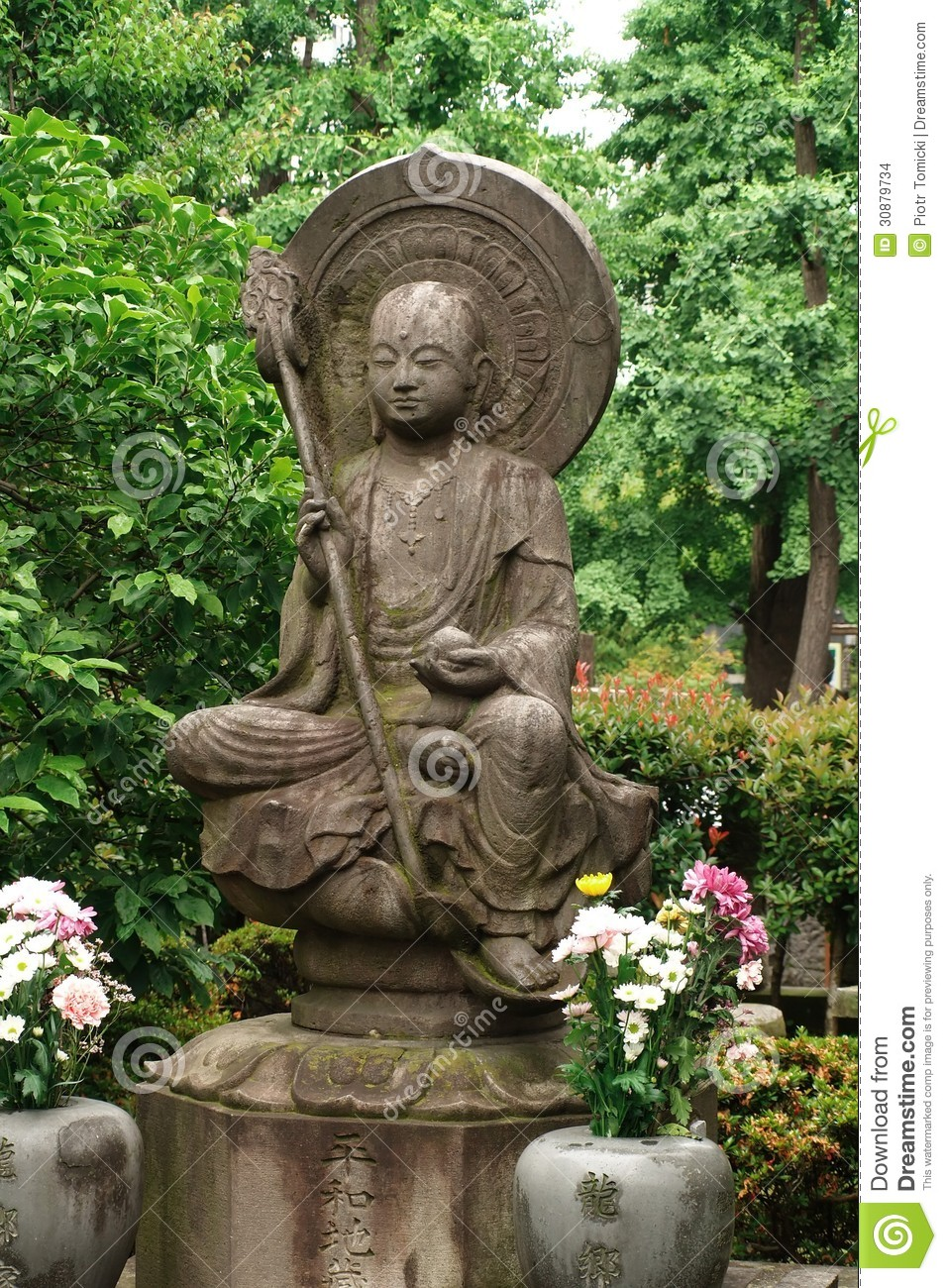 Statue At Asakusa Kannon Temple In Tokyo Stock Images Image 30879734