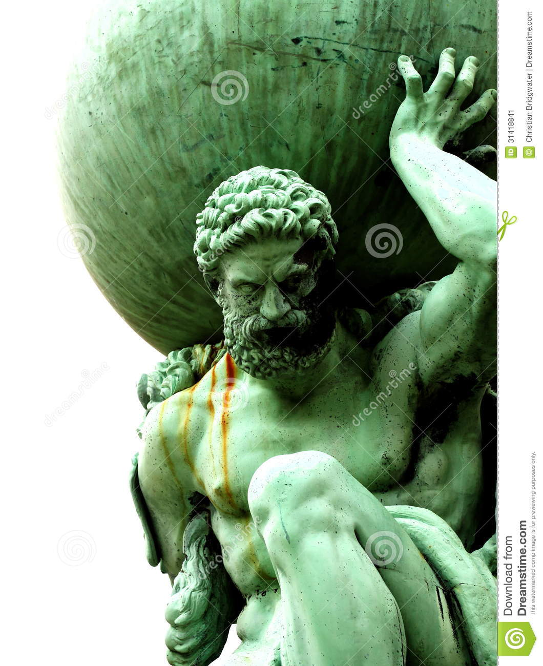 Statue Of Atlas Stock Image Image Of Earth Strength 31418841