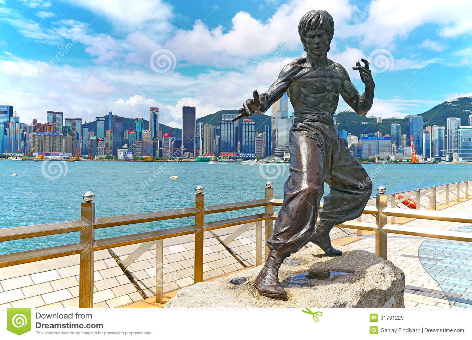 statue-bruce-lee-hong-kong-meter-bronze-