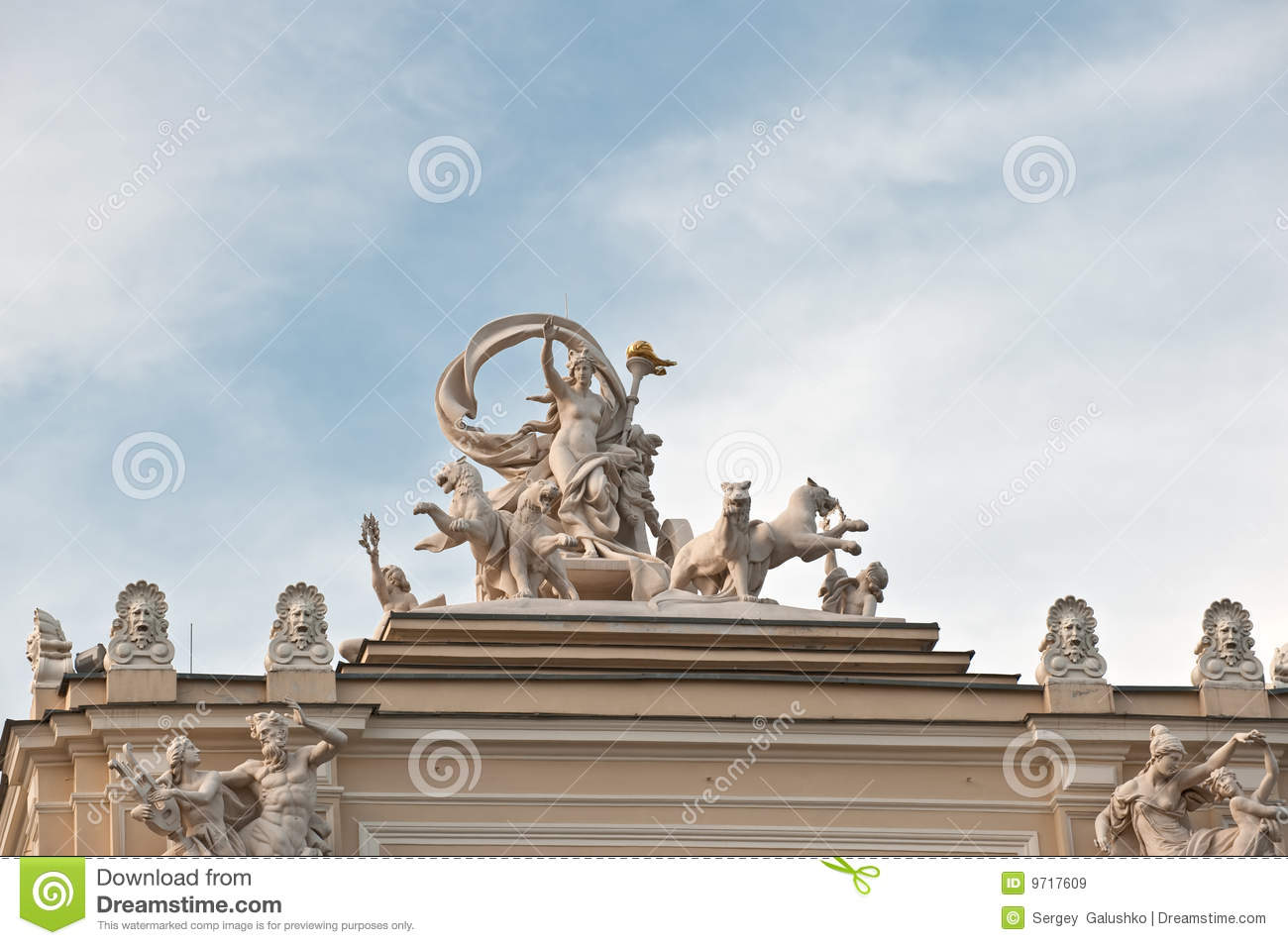 Statue of a building of an opera