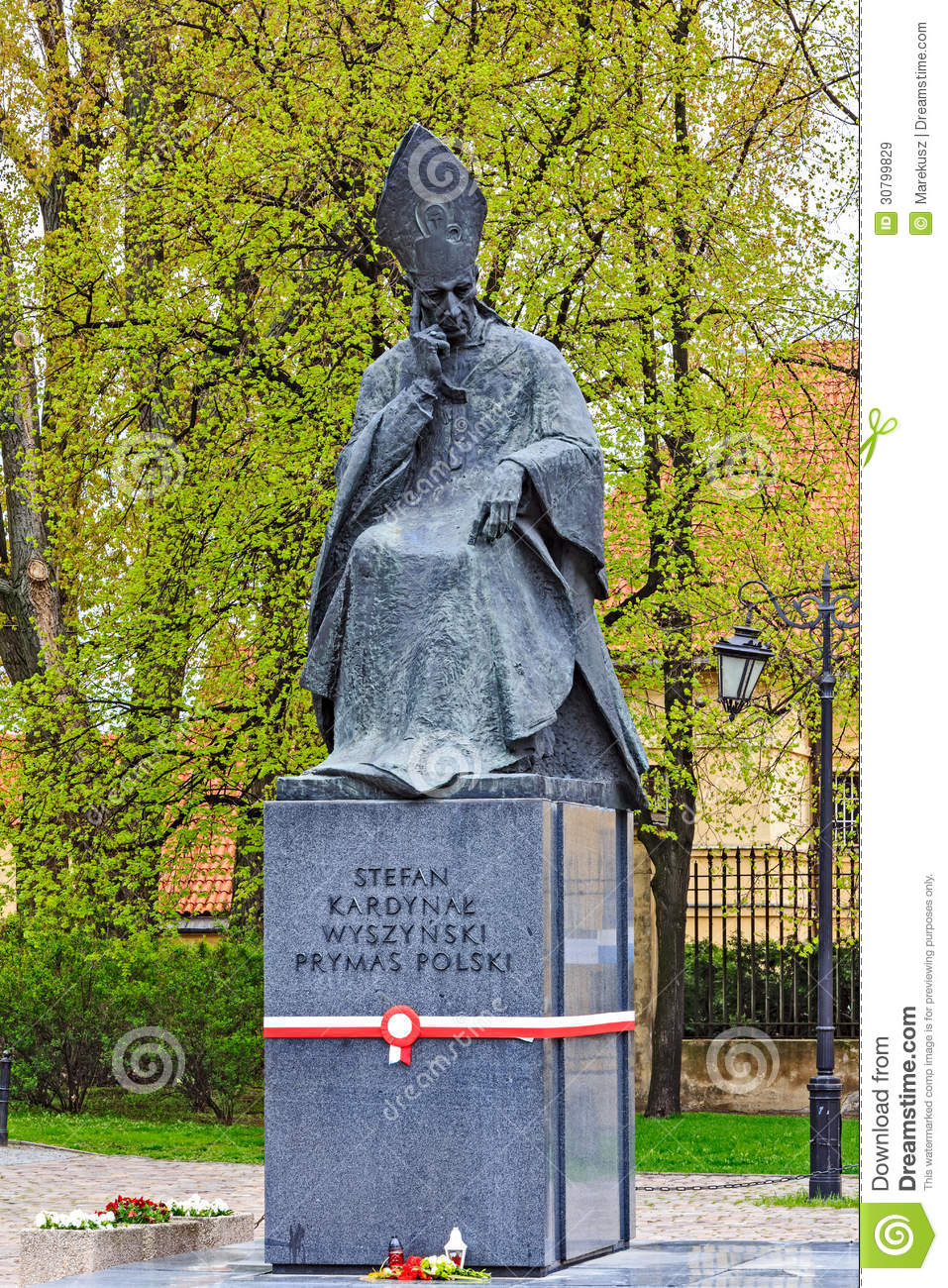 - statue-cardinal-primate-stefan-wyszynski-warsaw-may-unveiled-may-occasion-flag-day-may-decorated-30799829