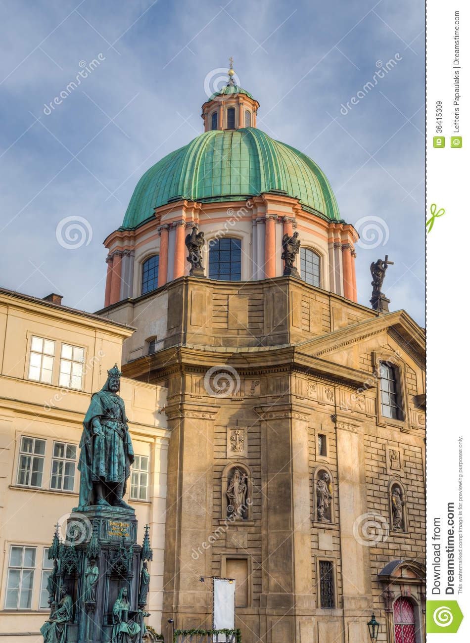 Statue of charles iv and saint francis of assisi church for Where is prague near